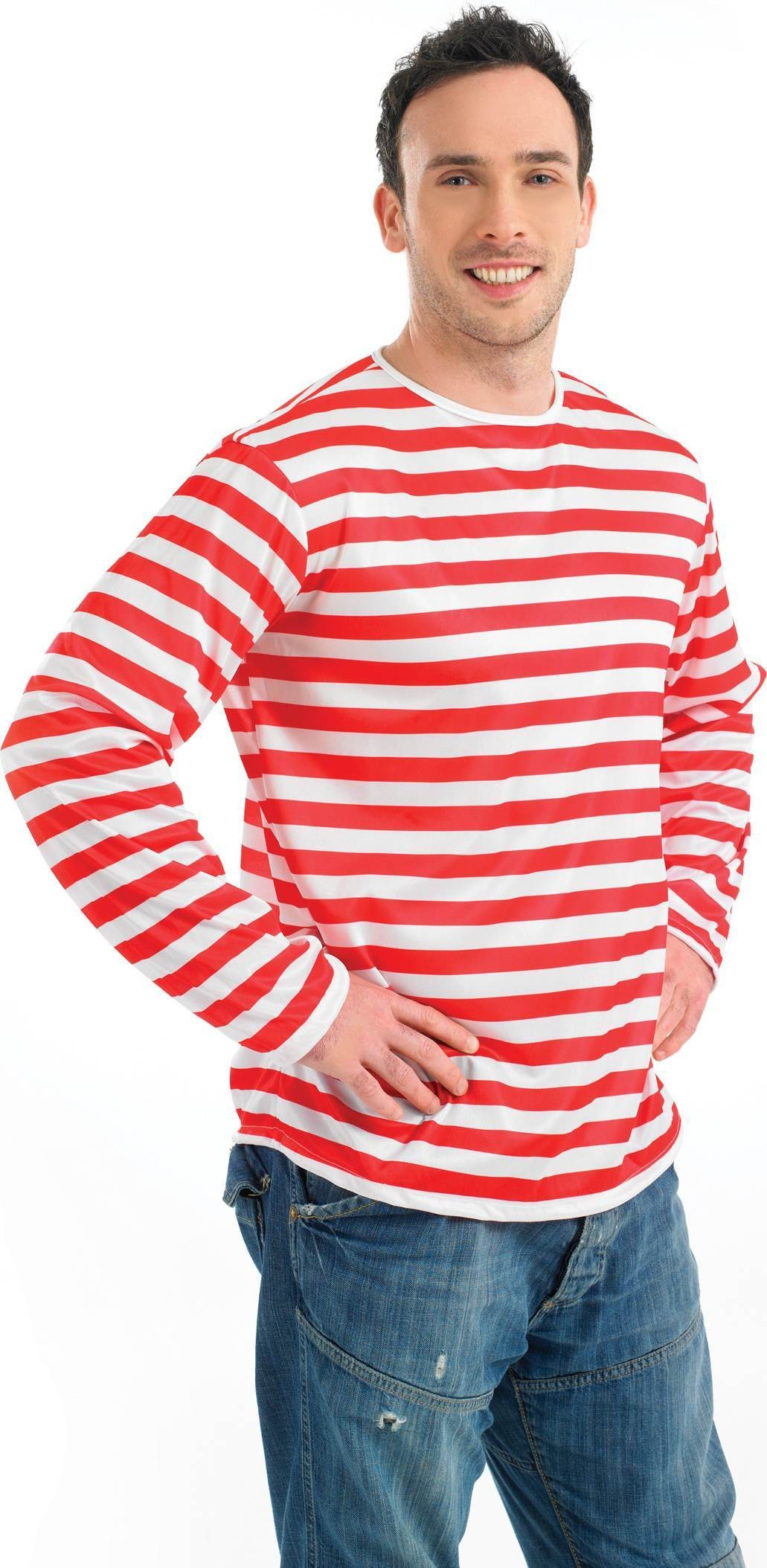 Red And White Stripe Jumper (1980S , Cartoon Fancy Dress)