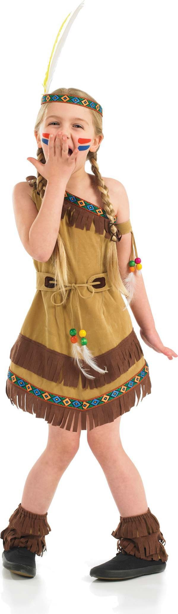 Native American Squaw Girl Fancy Dress Costume