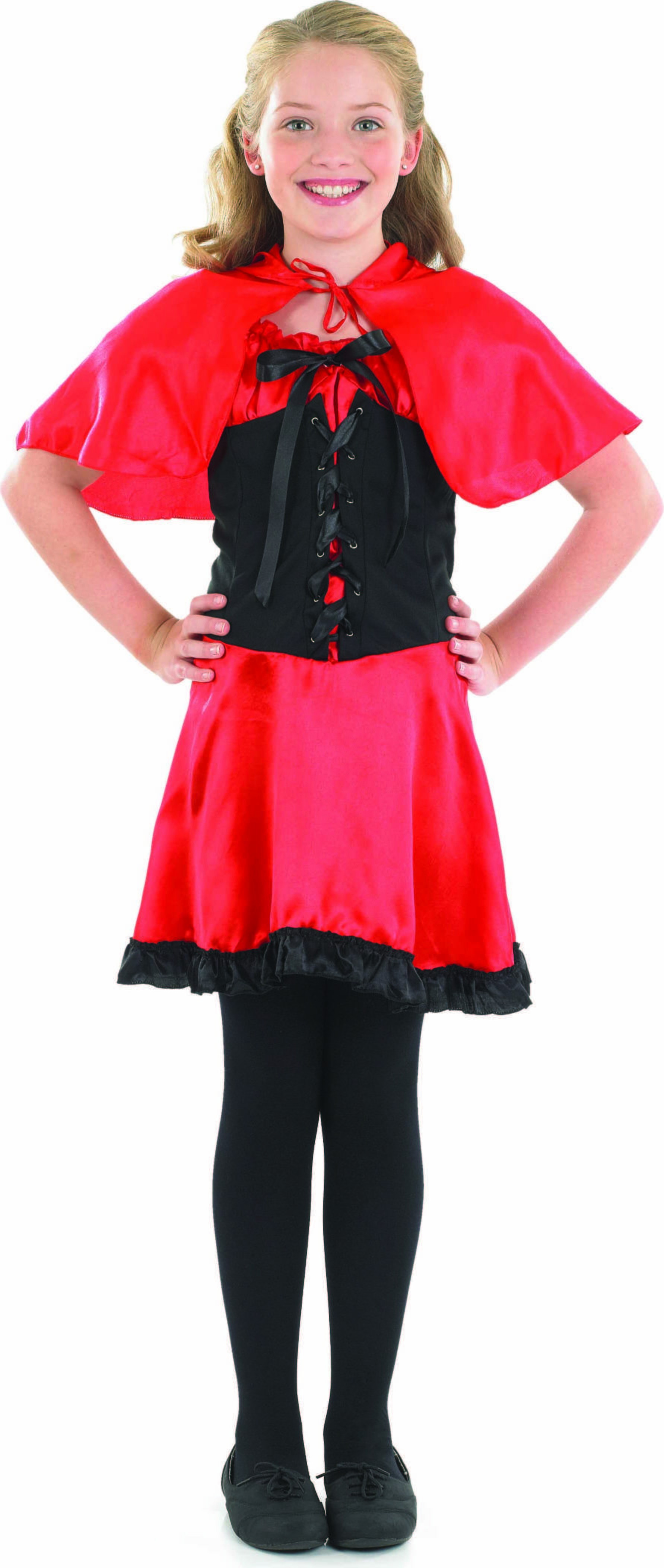 Red Riding Girl Fancy Dress Costume