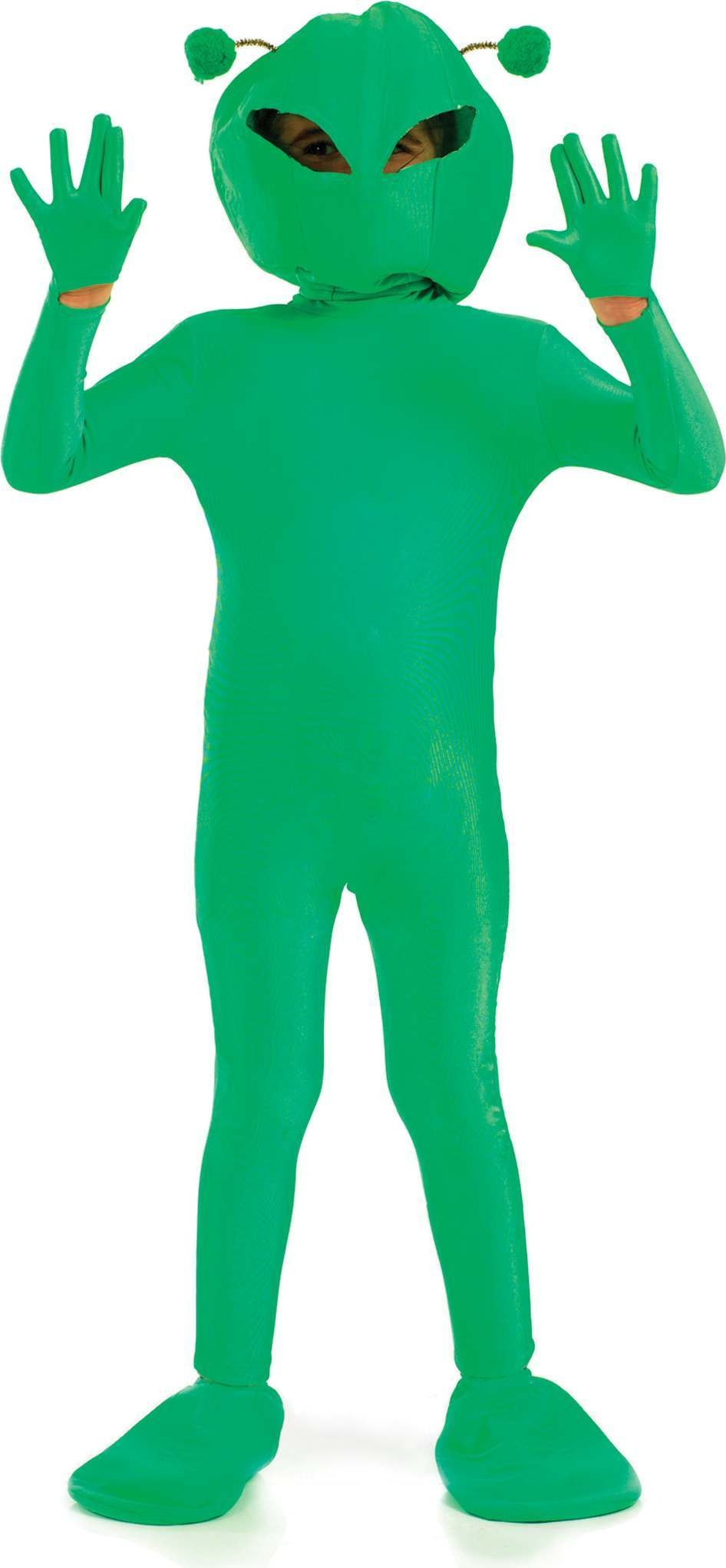 Green Si-Fi Alien Boy Fancy Dress Costume