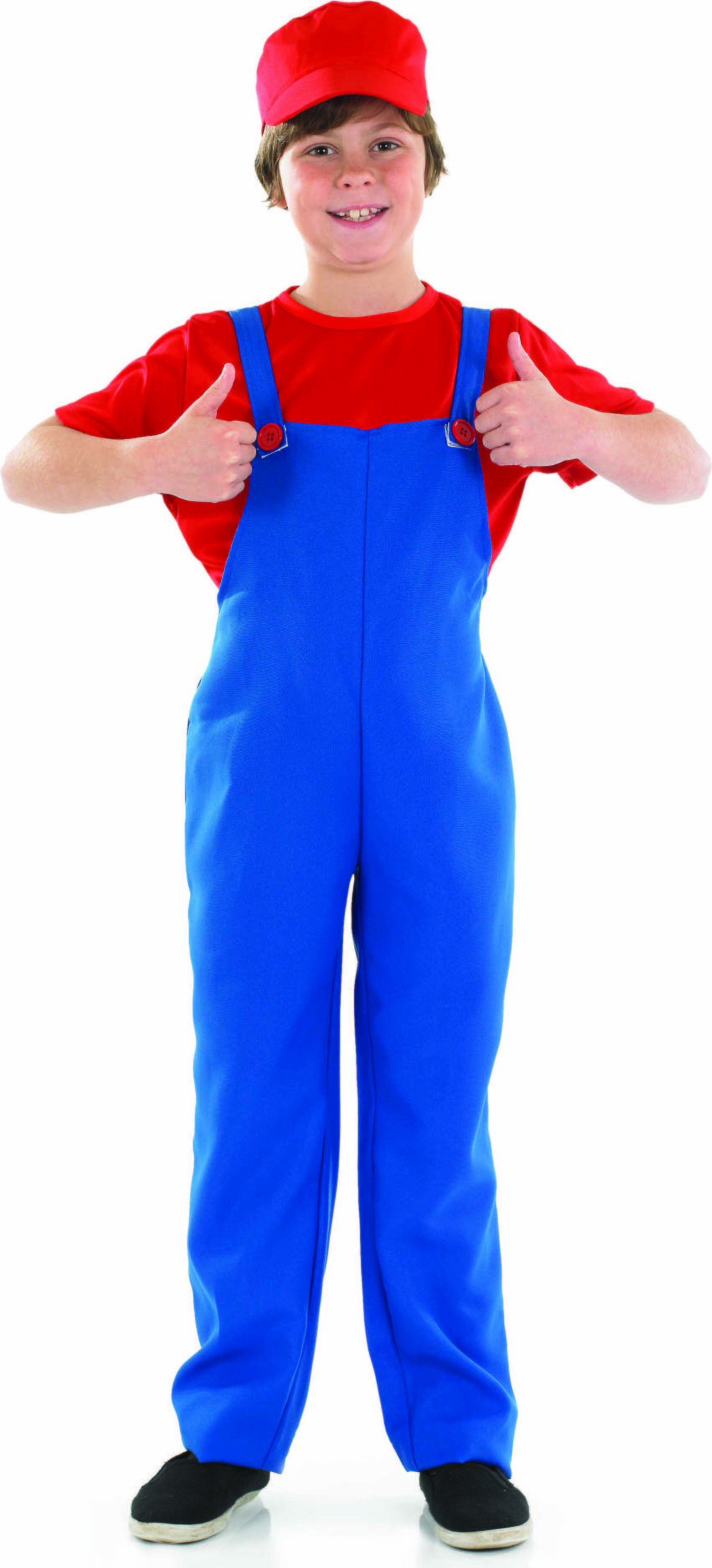 Red Plumbers Mate Boy Fancy Dress Costume