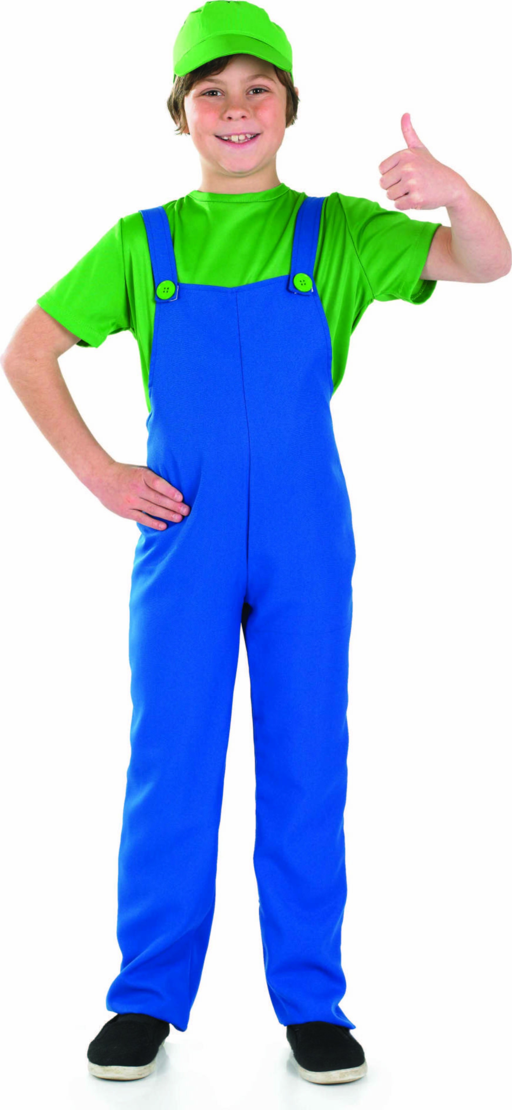 Green Plumbers Mate Boy Fancy Dress Costume