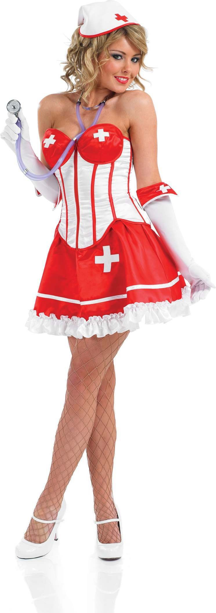 Sexy Tutu Nurse Fancy Dress Costume