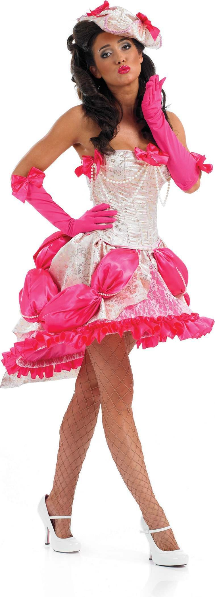 Burlesque Showgirl Fancy Dress Costume