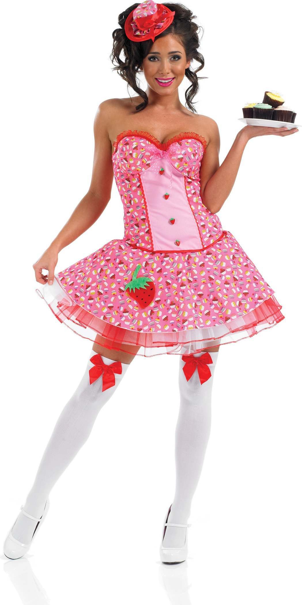 Cup Cake Girl Fancy Dress Costume