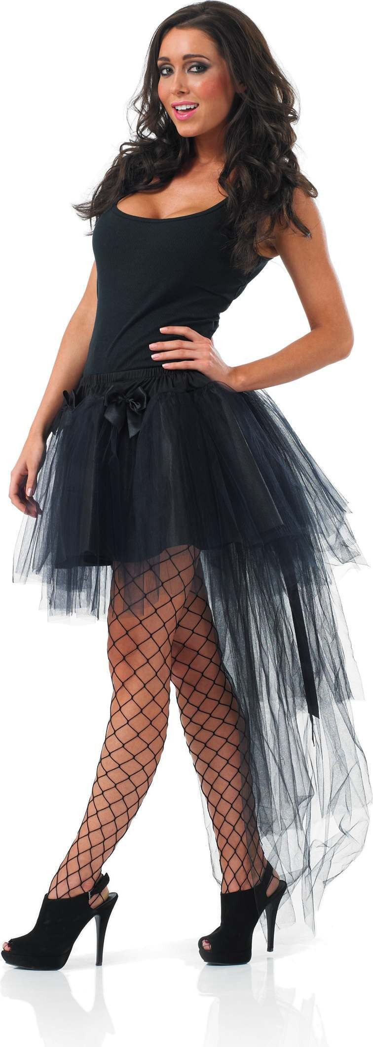 Black Tutu With Tail (Burlesque , Sexy Fancy Dress)