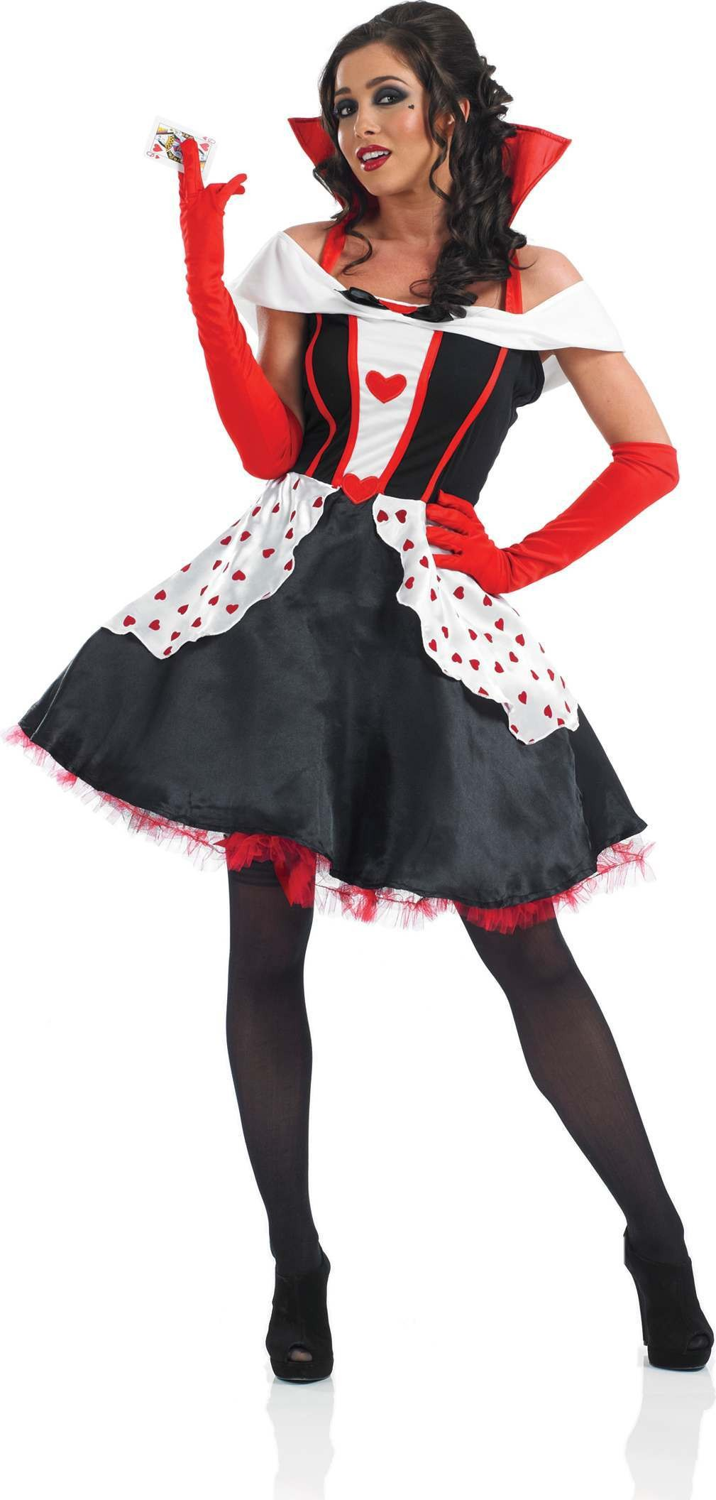 Longer Length Queen Of Hearts Fairy Tales Outfit - Size 28-30