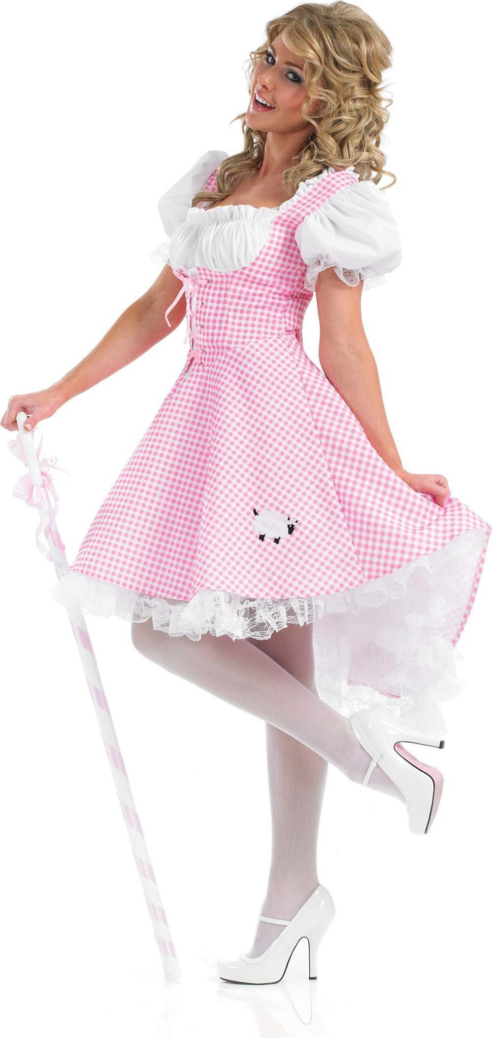 Longer Length Bo Peep Fancy Dress Costume