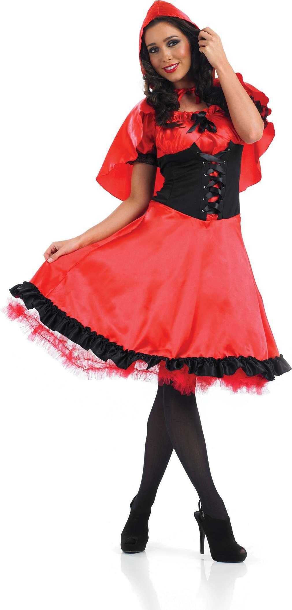 Longer Length Red Riding Hood Fancy Dress Costume