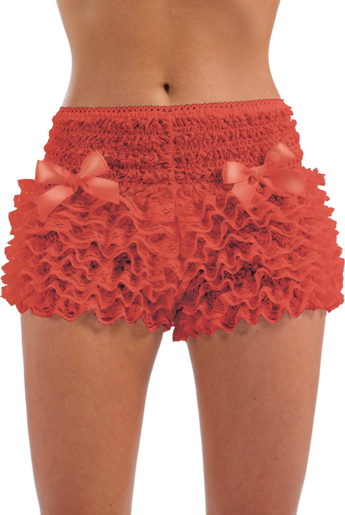 Red Ruffled Pants (Burlesque Fancy Dress)