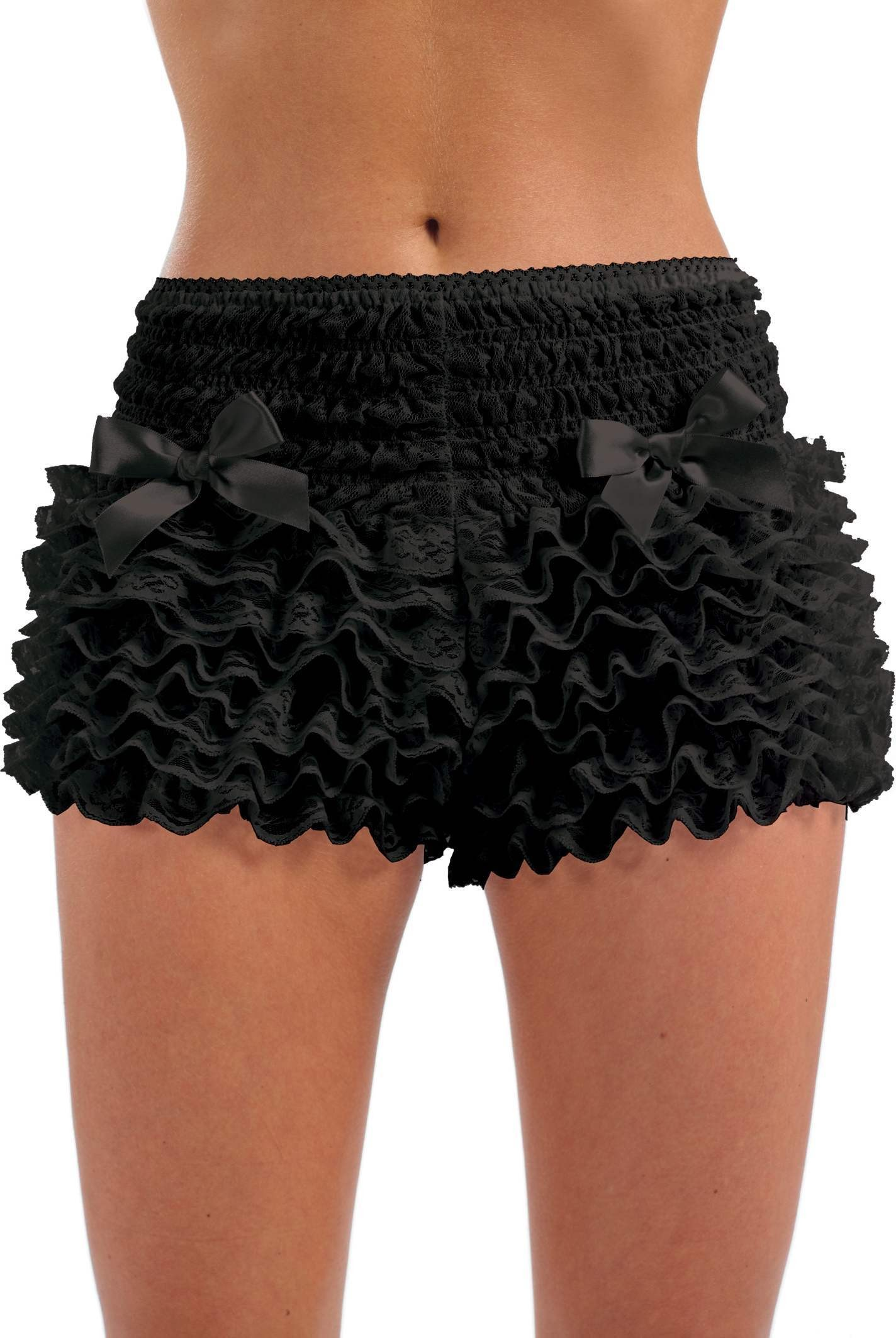 Black Ruffled Pants (Burlesque Fancy Dress)