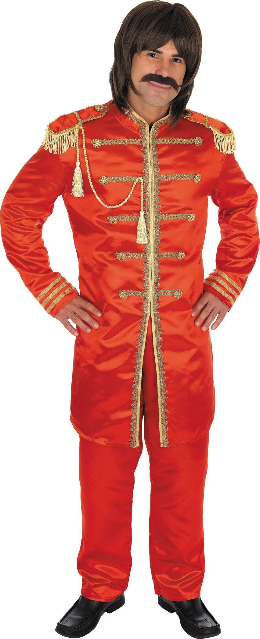 Red Pop Sergeant Fancy Dress Costume