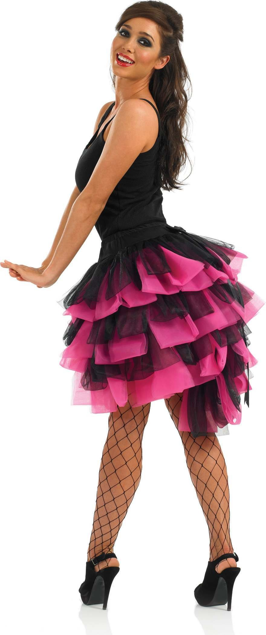 Pink And Black Burlesque Tutu (Burlesque , Sexy Fancy Dress)