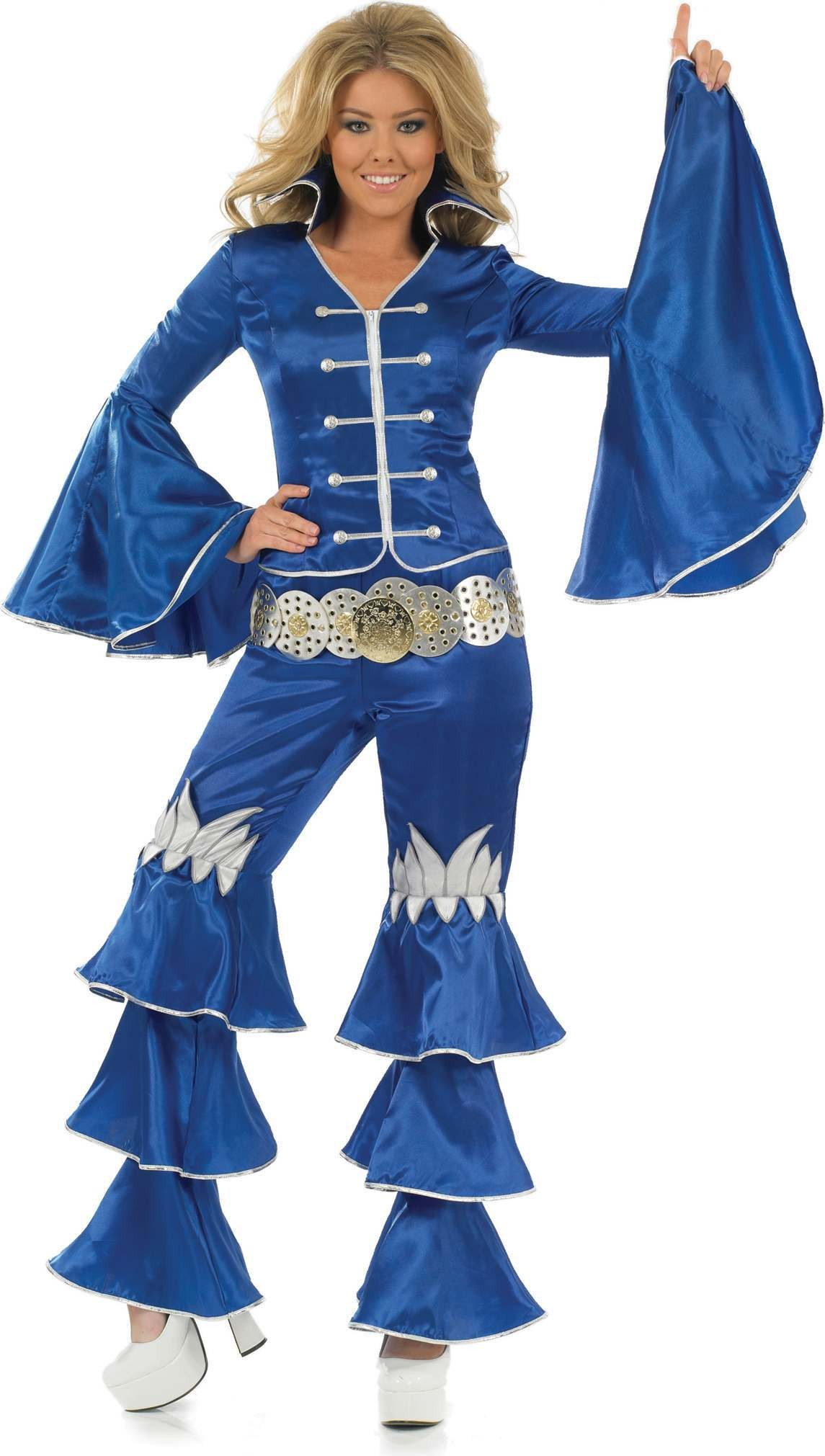 Blue Dancing Queen Fancy Dress Costume