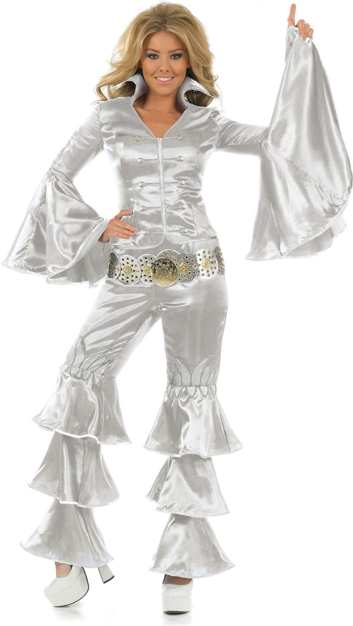 Silver Dancing Queen Fancy Dress Costume