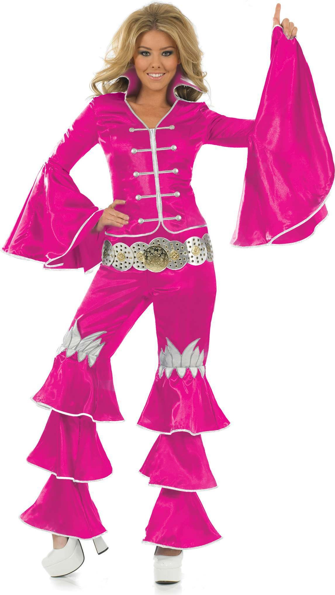 Pink Dancing Queen Fancy Dress Costume