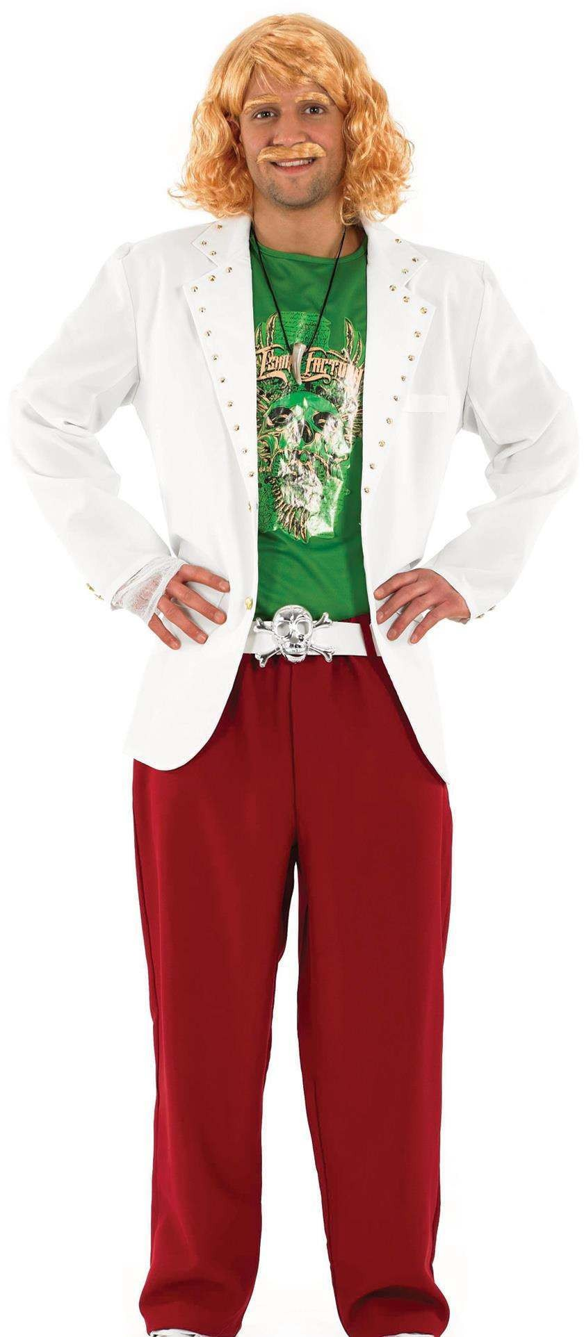 Mens Game Show Host Tv Outfit (White, Green)