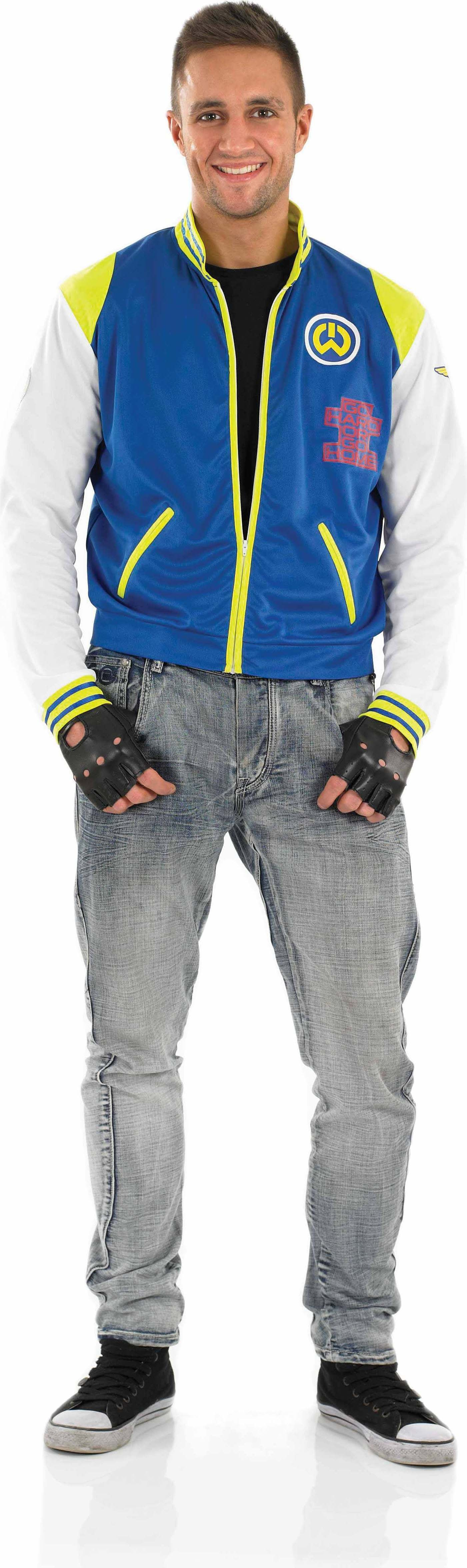 Mens Rap Pop Star Music Outfit (Blue, Green)