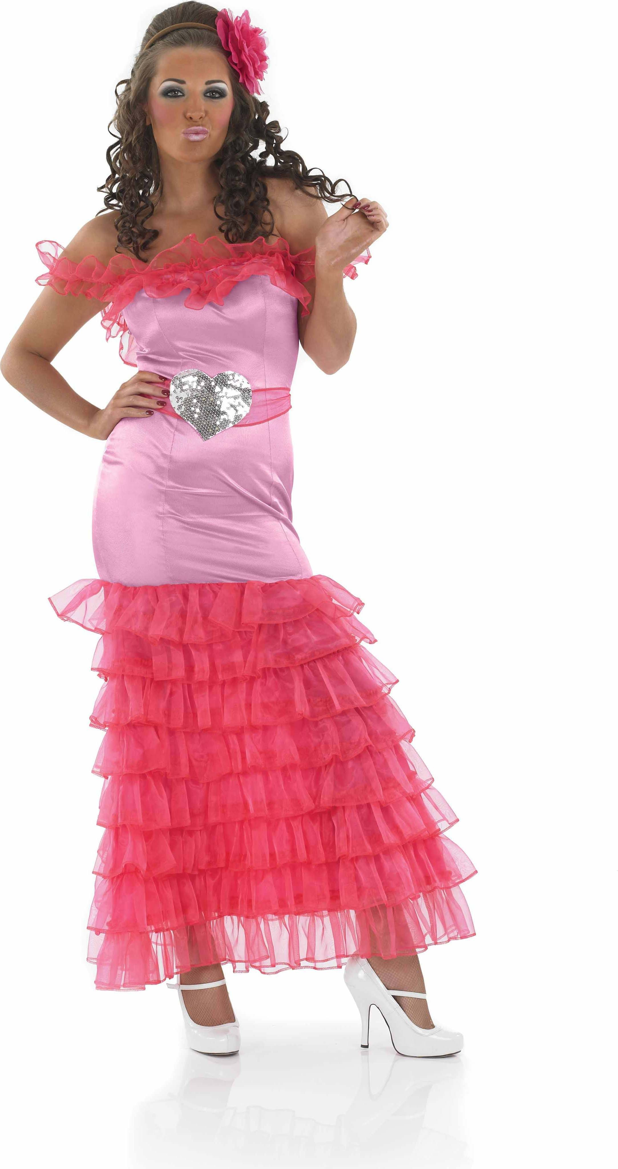 Ladies Pink Gypsy Bridesmaid Gypsy Outfit - (Pink)