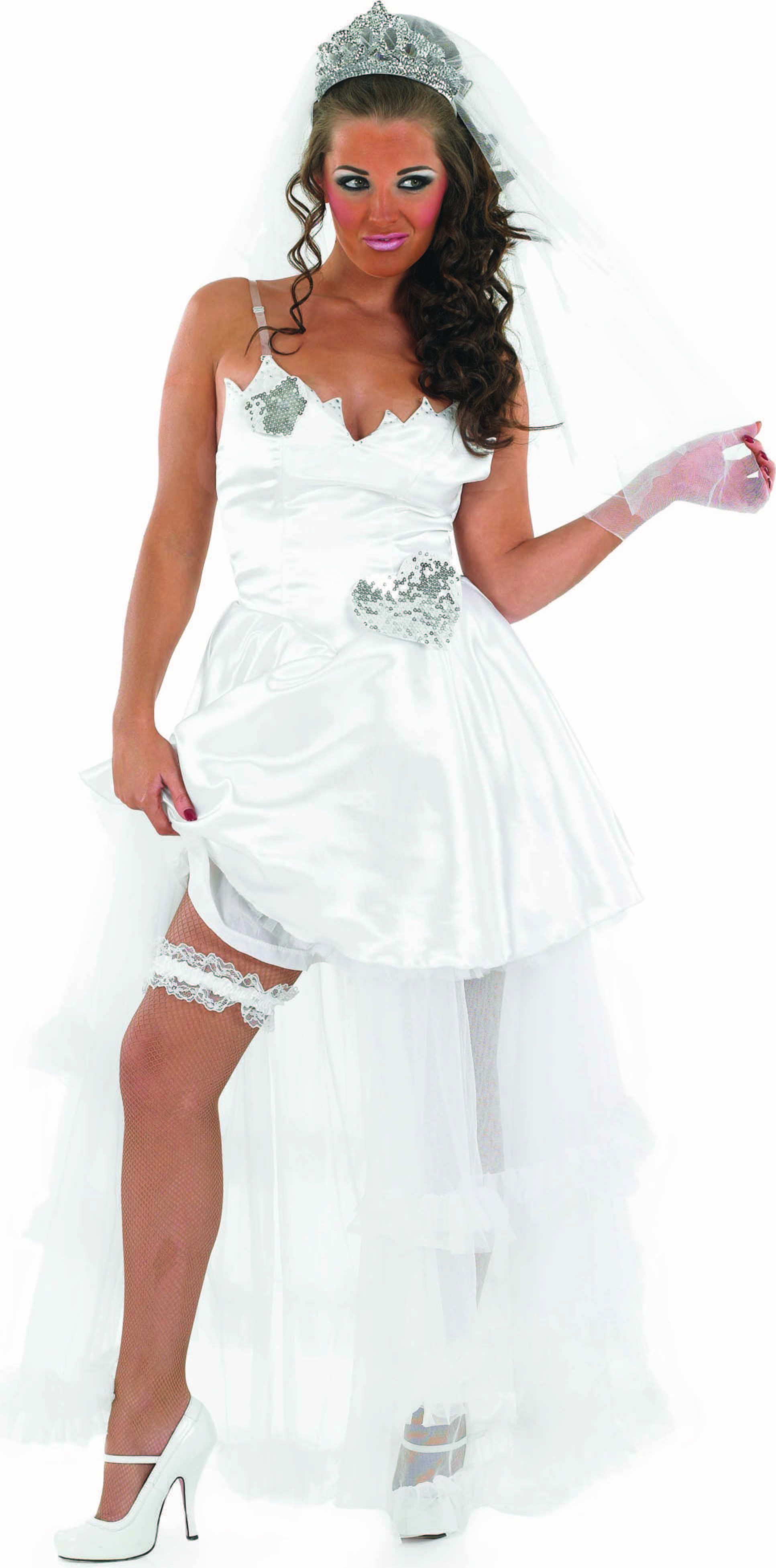 Ladies Gypsy Bride Gypsy Outfit - (White)