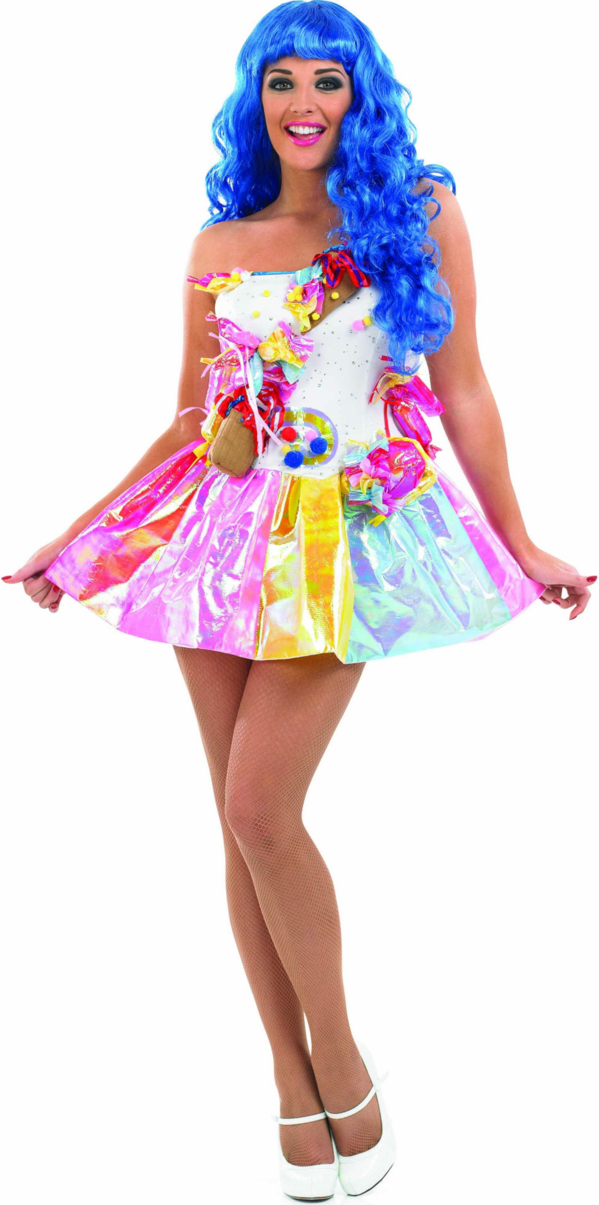 Ladies Sweet Pop Star Music Outfit - (Multicolour)