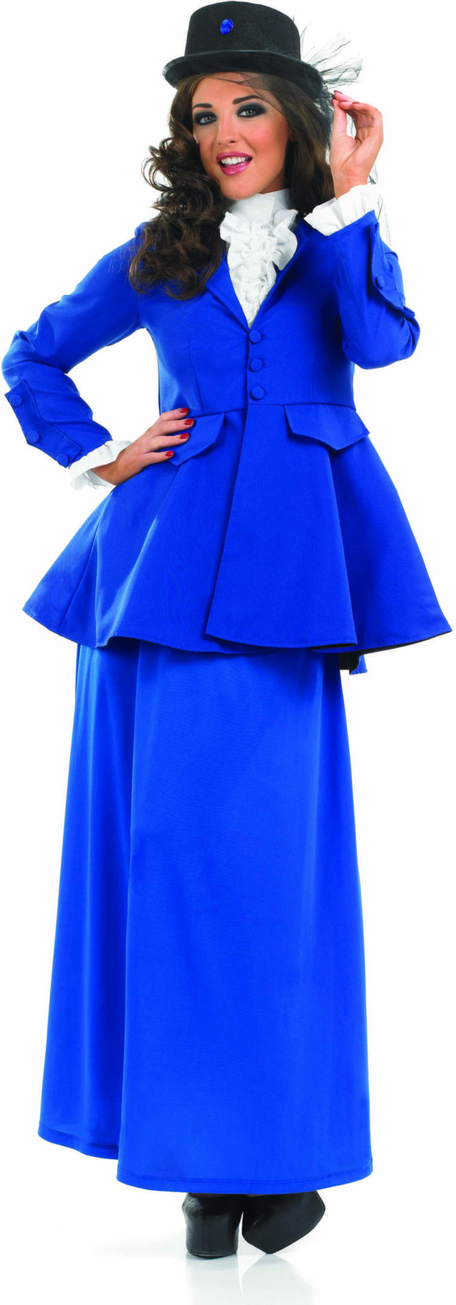 Ladies Victorian Lady Victorian Outfit - (Blue)
