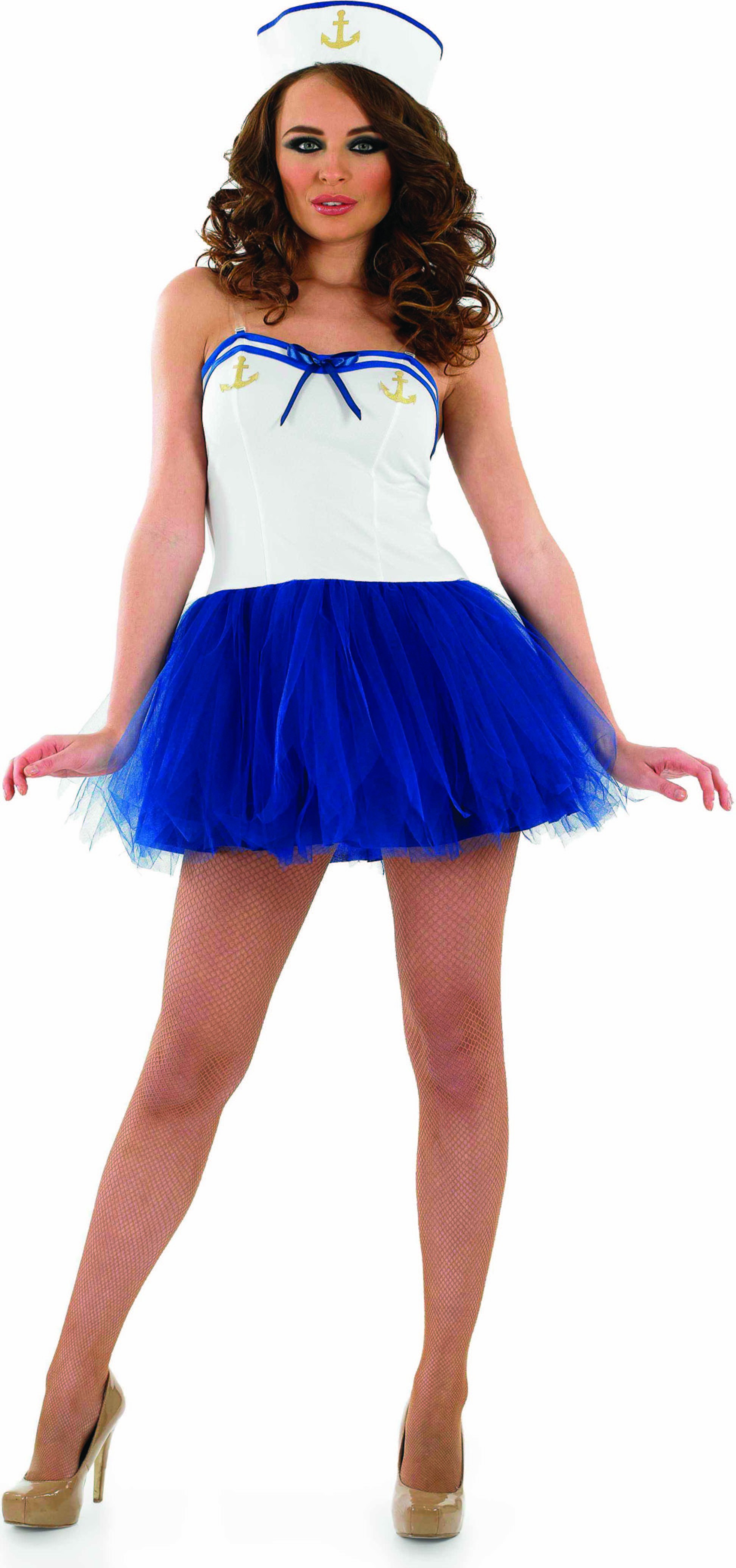 Ladies Sexy Tutu Sailor Girl Tutus - (Blue, White)