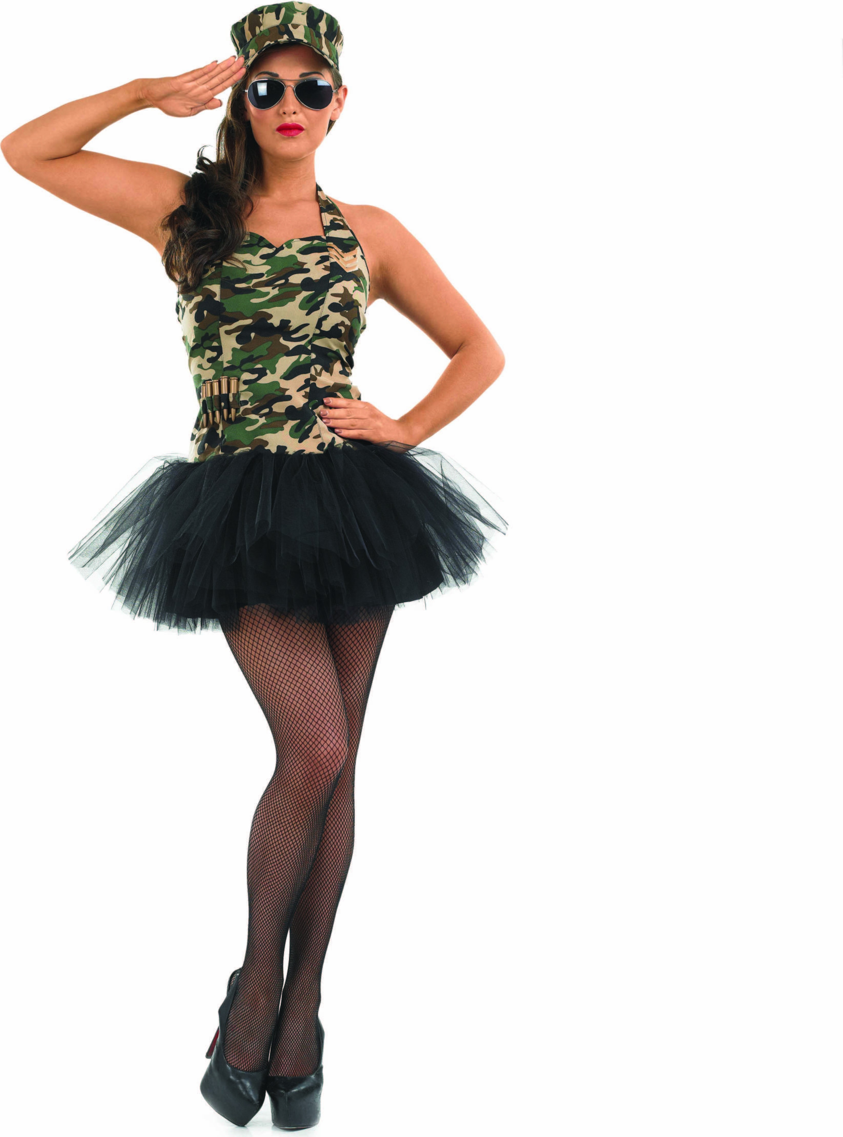 Ladies Commando Tutu Girl Tutus - (Camo )