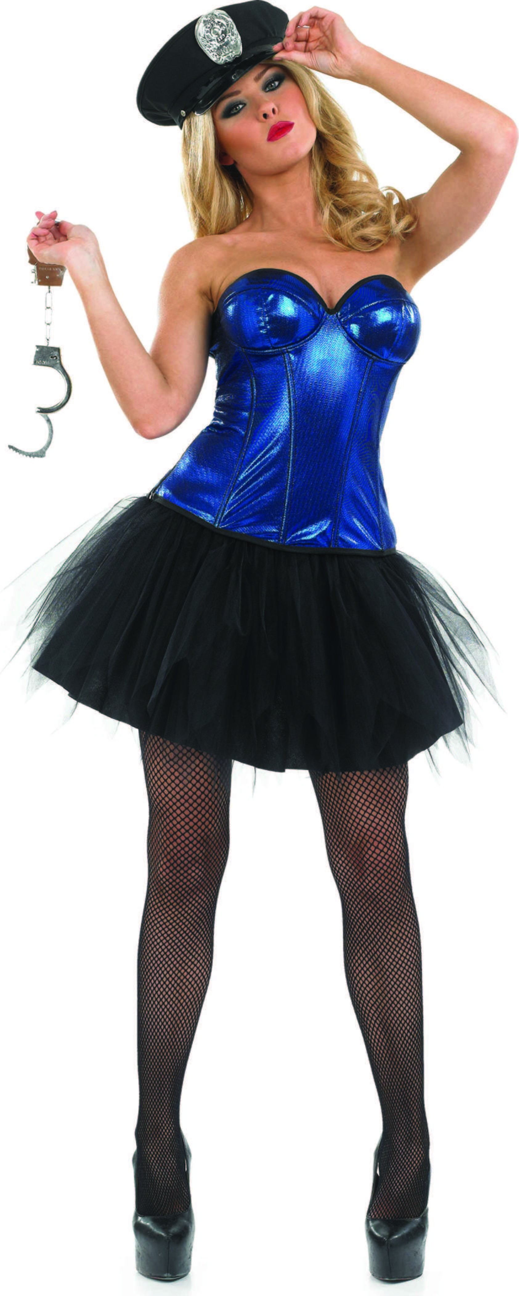 Ladies Tutu Cop Tutus - (Blue, Black)