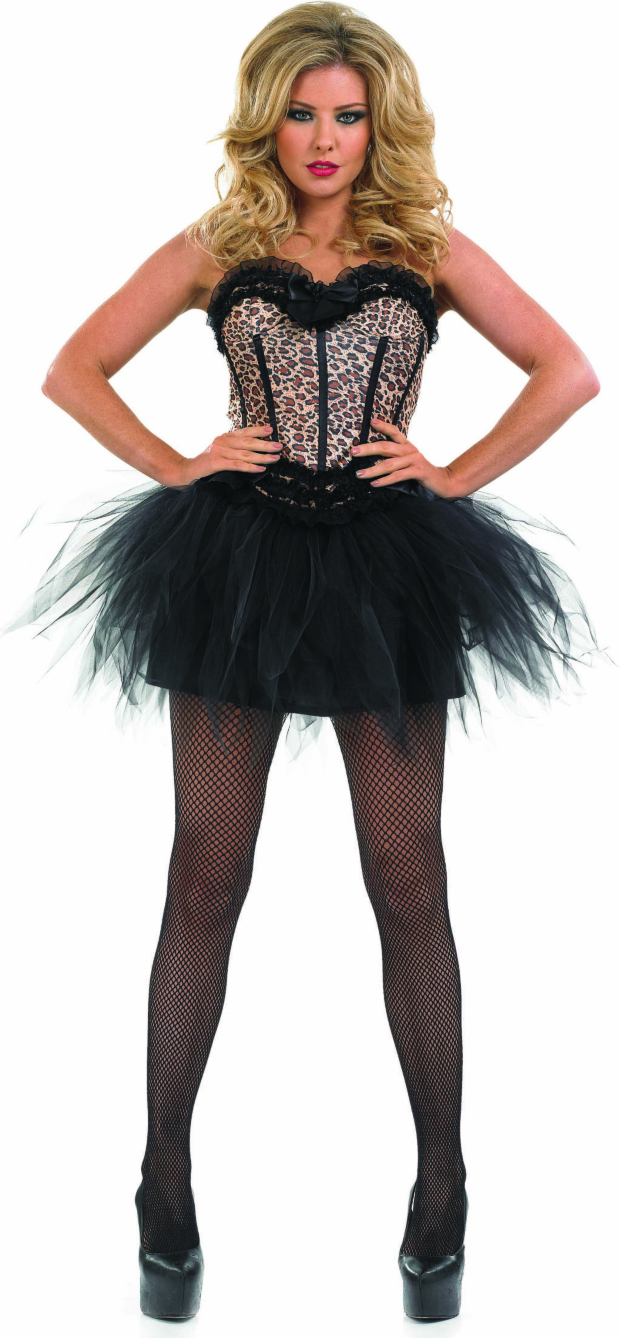 Ladies Leopard Corset & Tutu Tutus - (Brown)