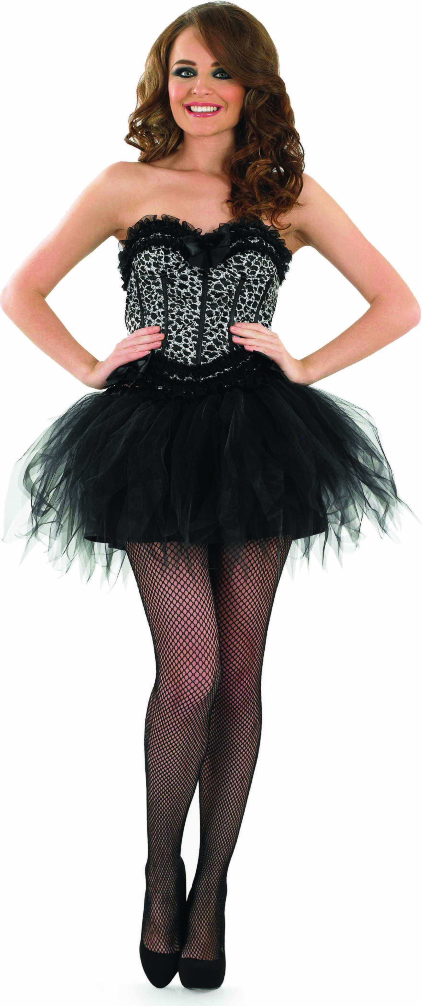 Ladies Snow Leopard Corset & Tutu Tutus - (Brown)