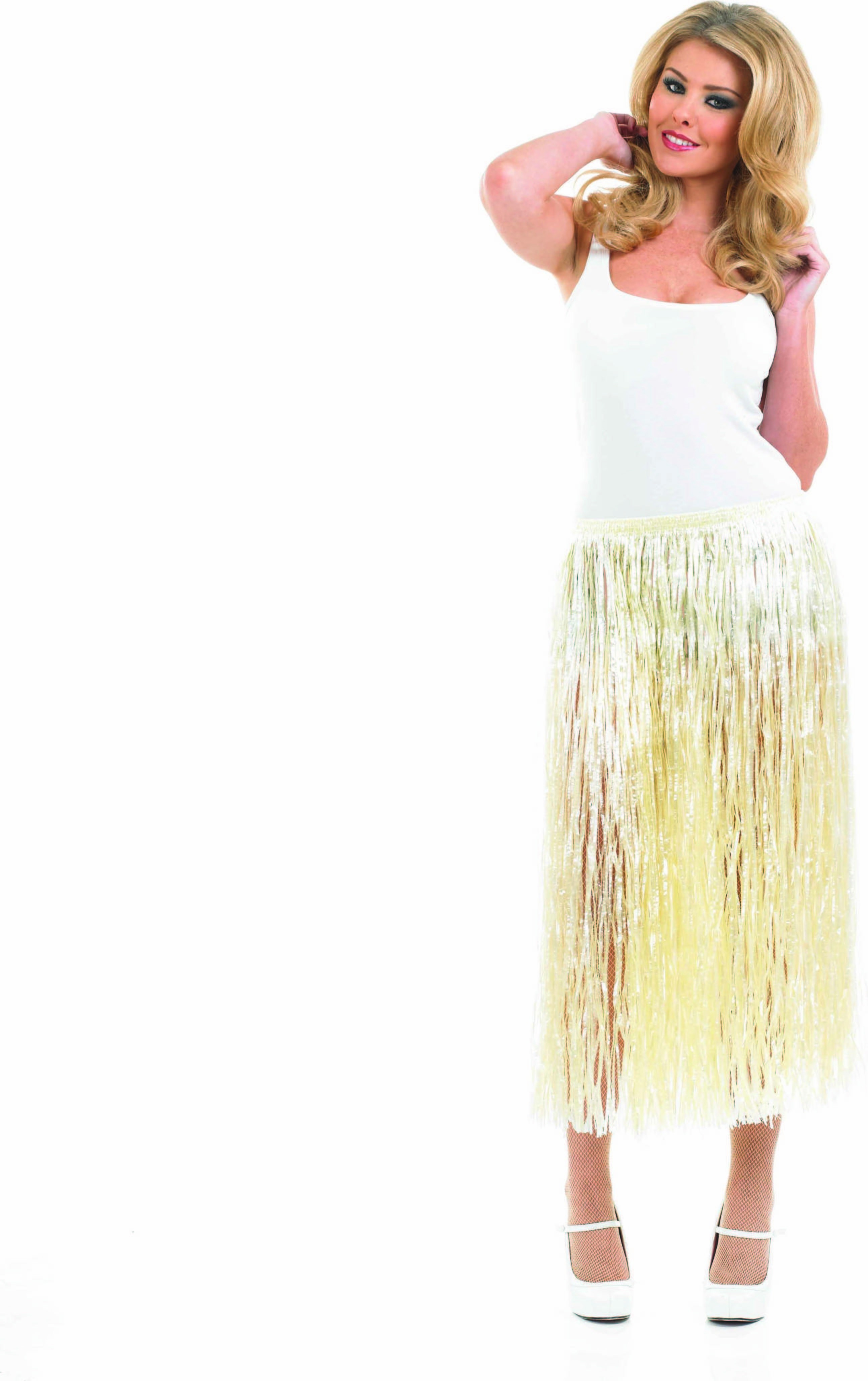 Ladies Natural Grass Skirt Accessories - (Gold)