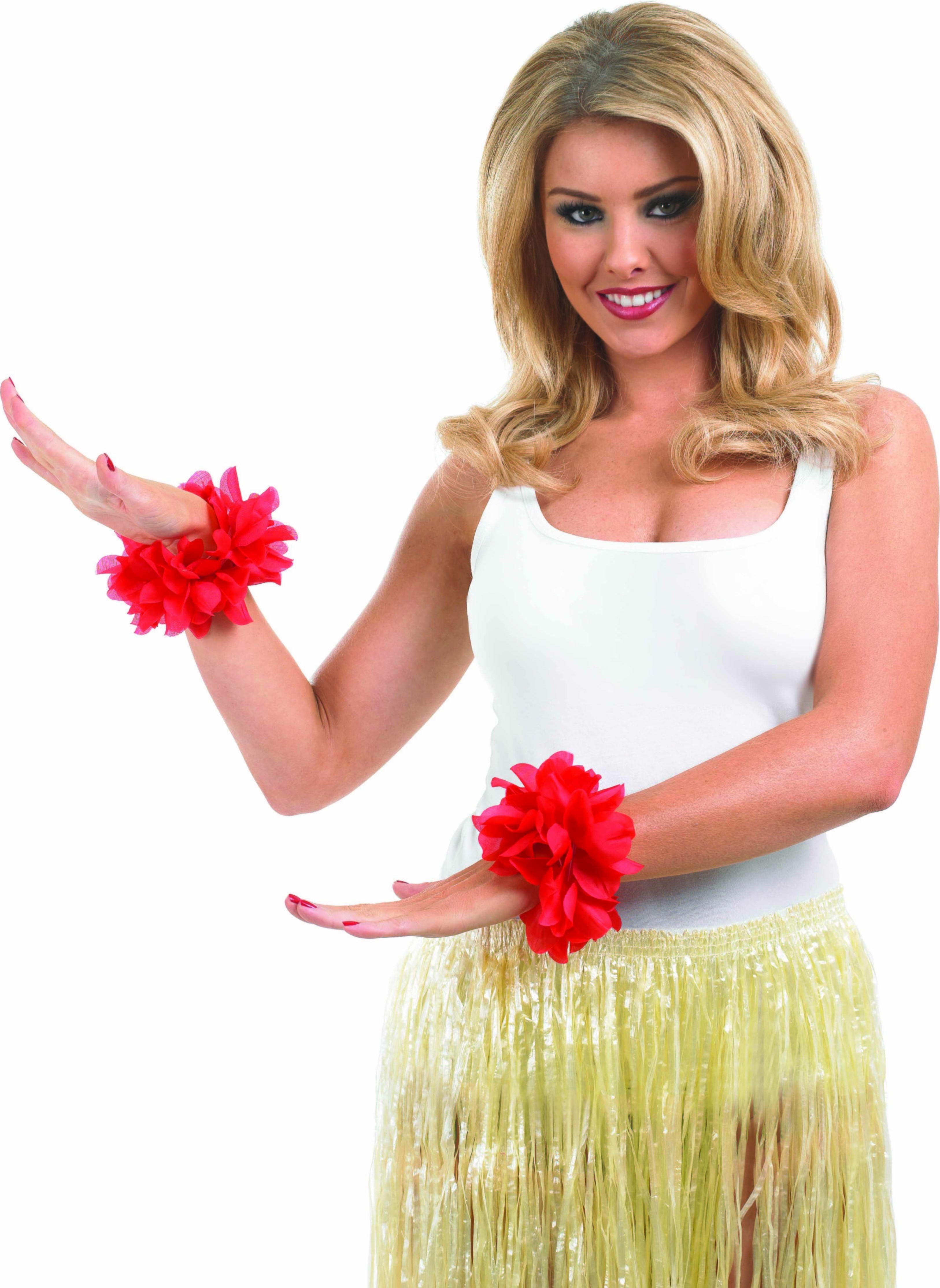Red Lei Wrist Garlands Accessories