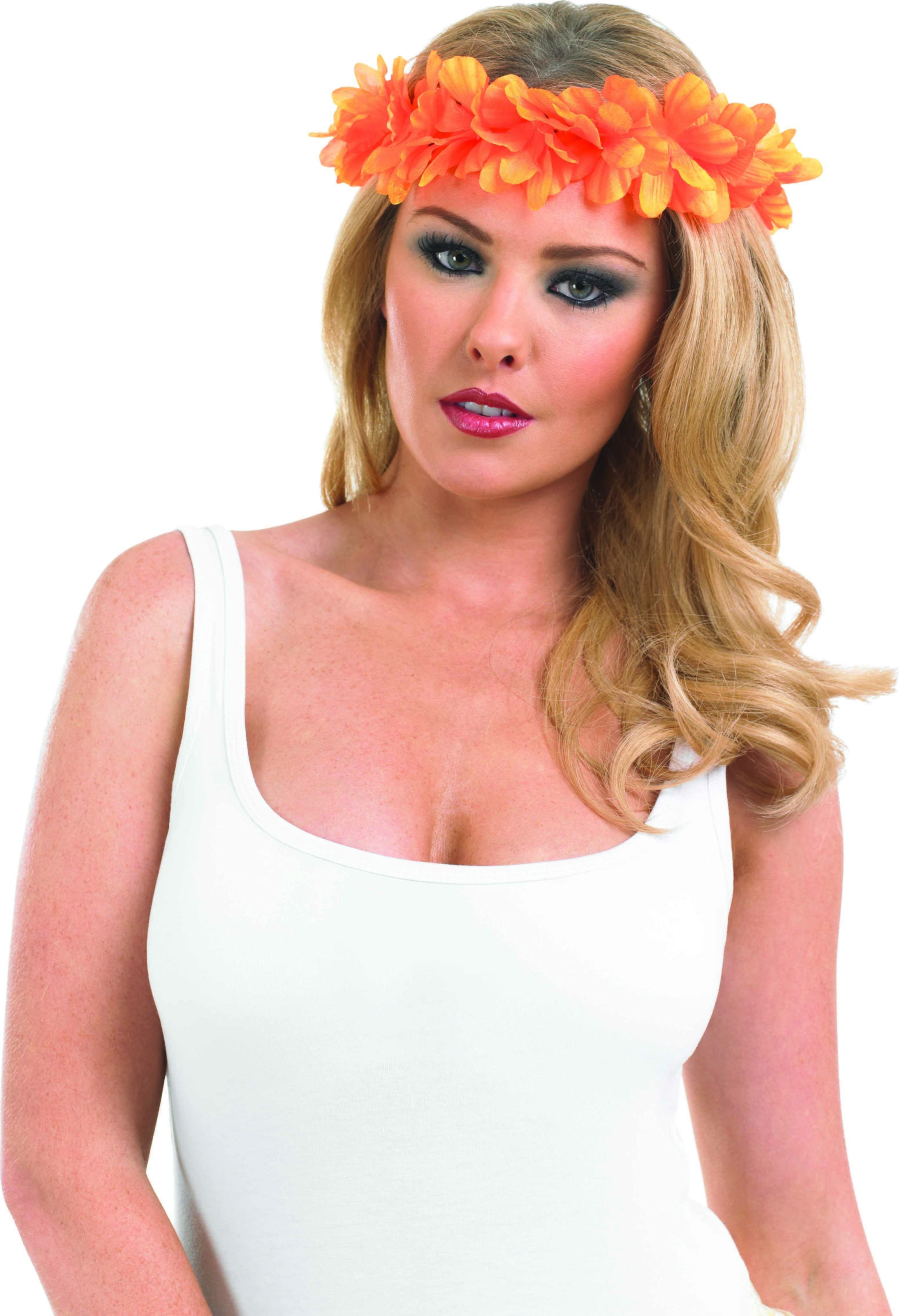 Orange Lei Headband Accessories