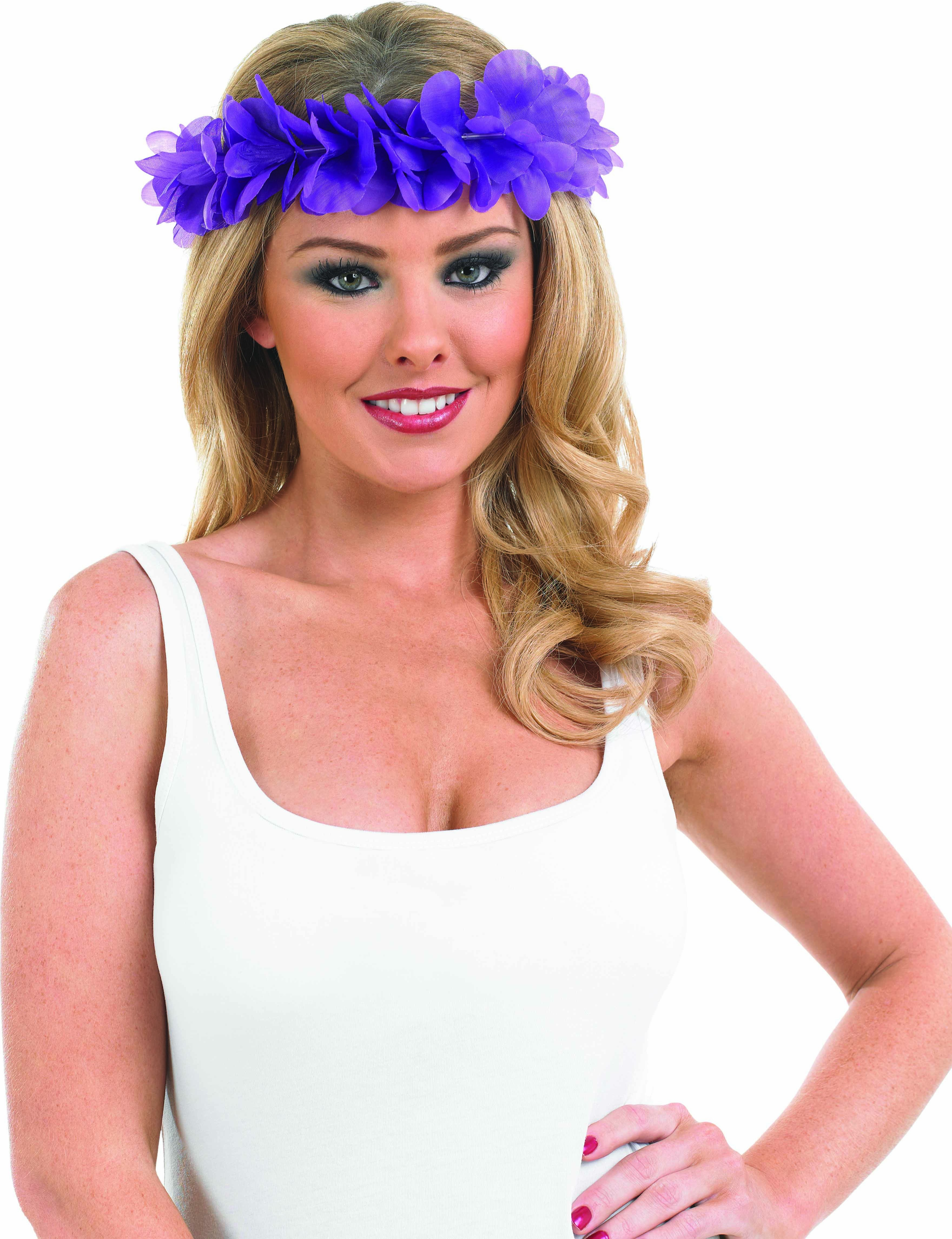 Purple Lei Headband Accessories