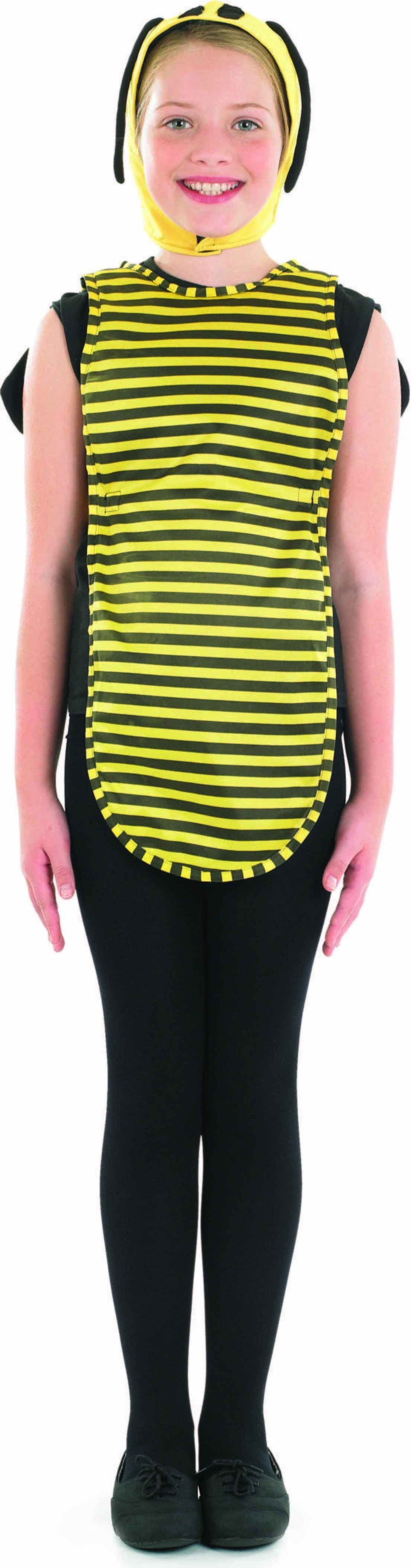 Girls Busy Bee Animal Outfit - (Black, Yellow)