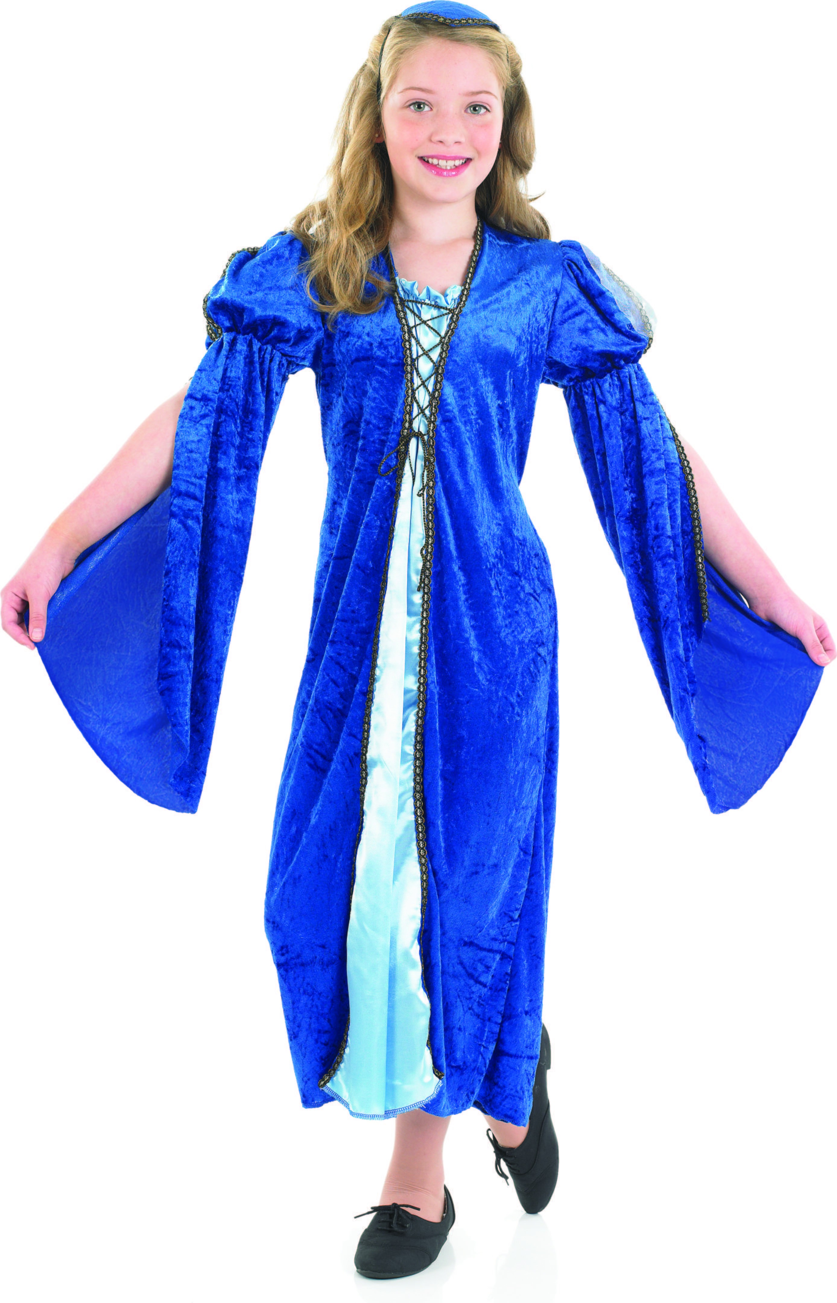 Girls Merchants Daughter Medieval Outfit - (Blue)