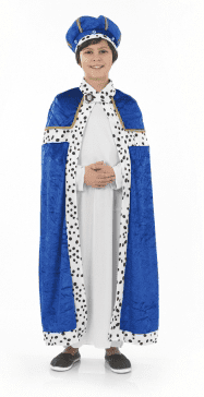 Boys Blue Nativity Wise Man.Includes:Robe,Cloak And Hat.