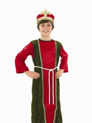 Boys Red Nativity Wise Man.Includes:Robe,Hat And Belt.