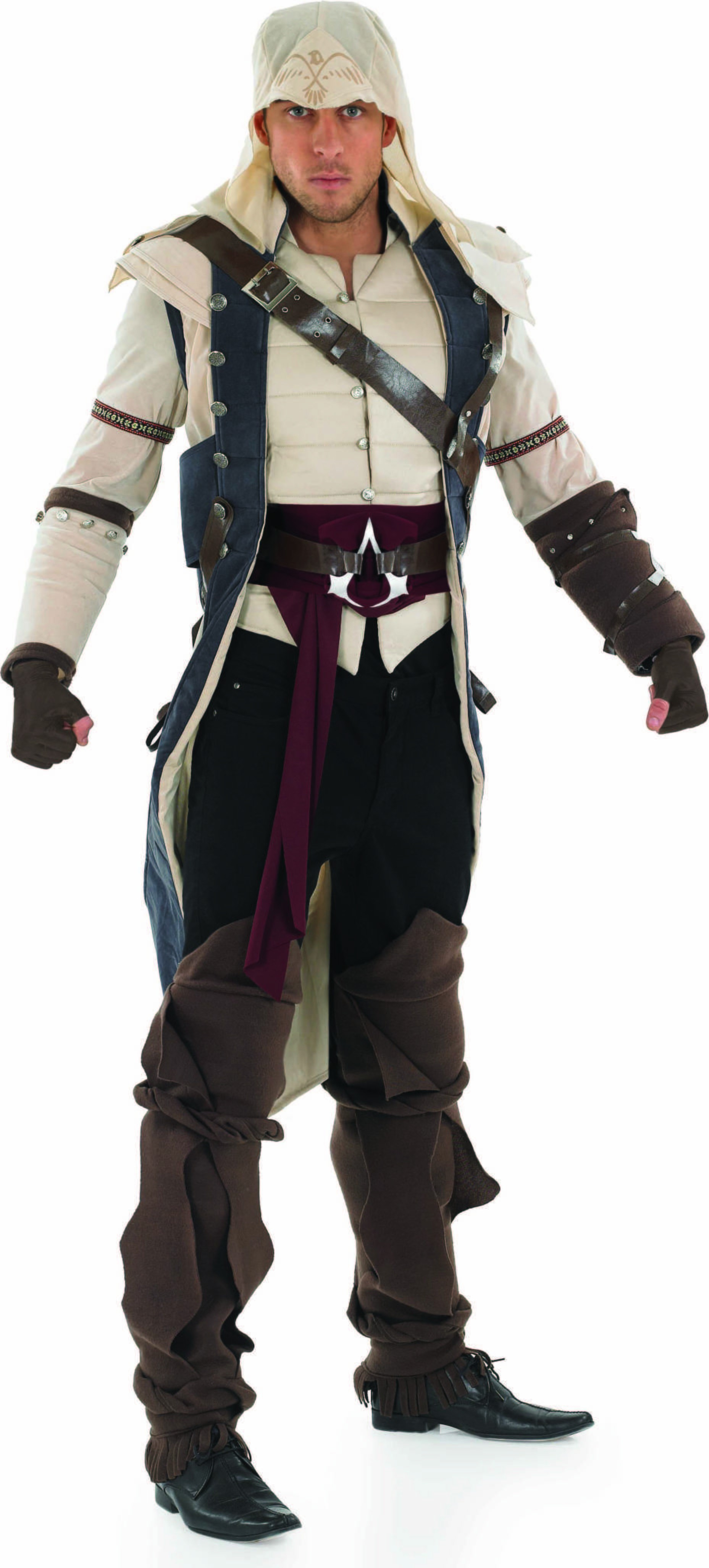 Mens Assasins Creed - Colonial Assasin Videogames Outfit (Beige)