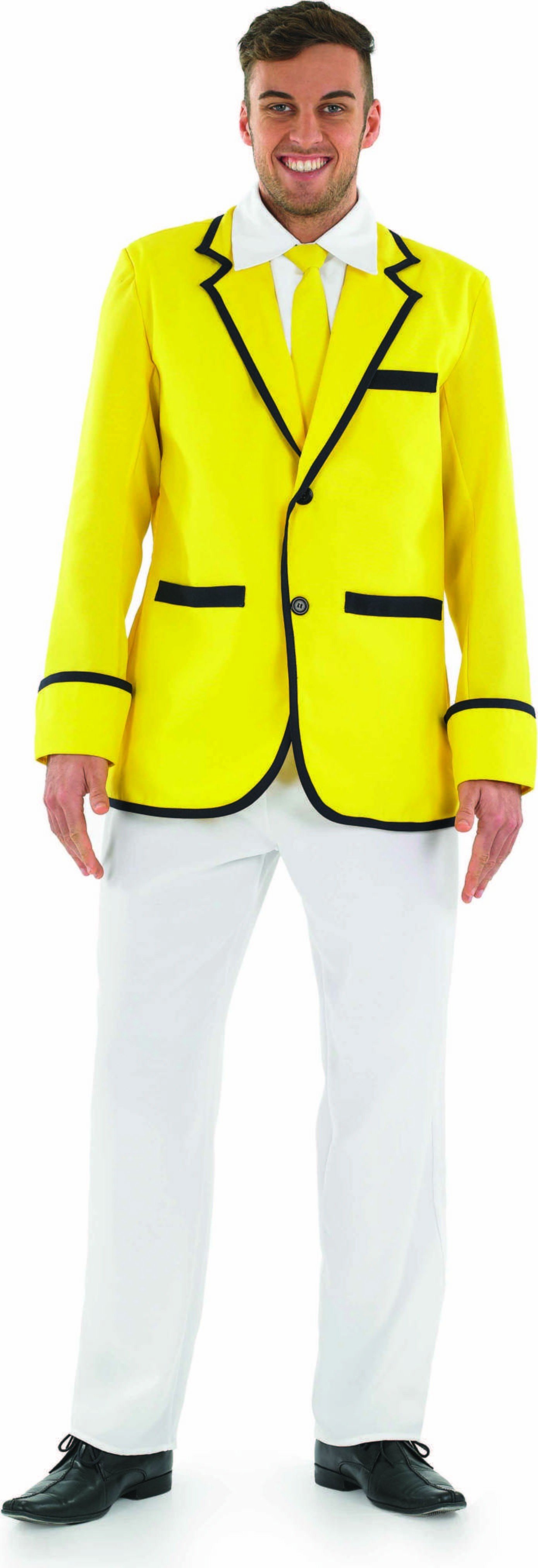 Mens Male Holiday Camp Entertainer Holidaycamp (Yellow, White)