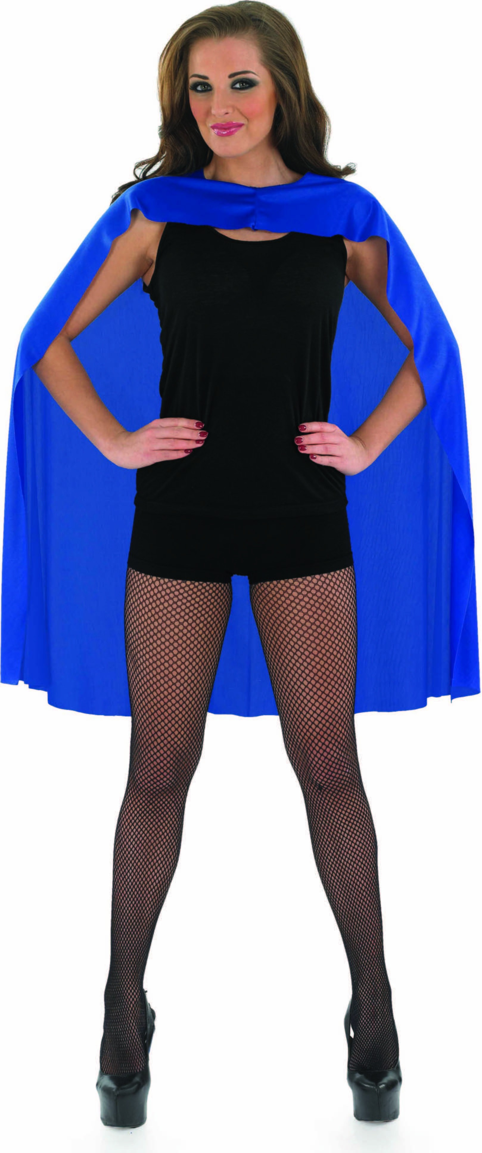 Adult Unisex Blue Superhero Cape - (Blue)