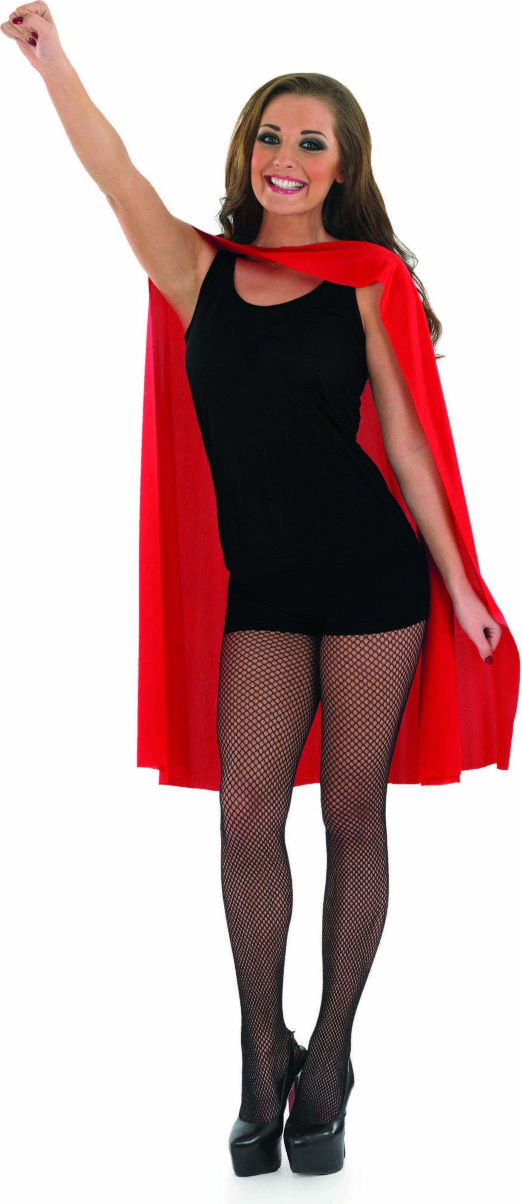 Adult Unisex Red Superhero Cape - (Red)