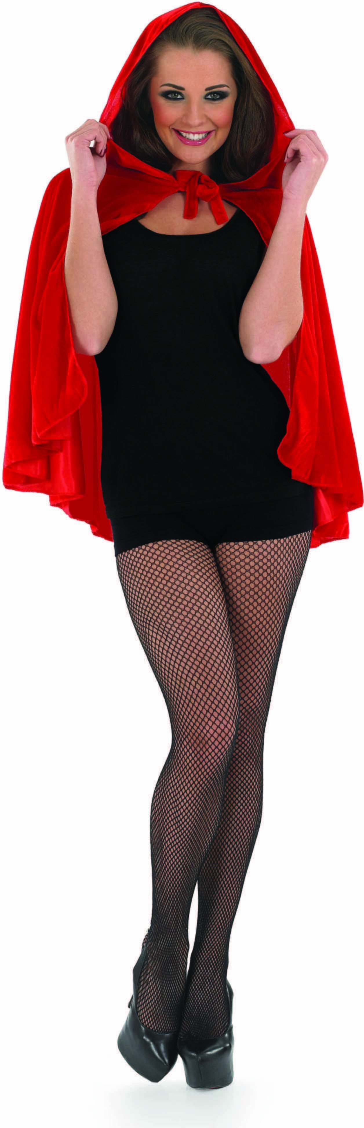 Adult Unisex Red Riding Hood Cape - (Red)