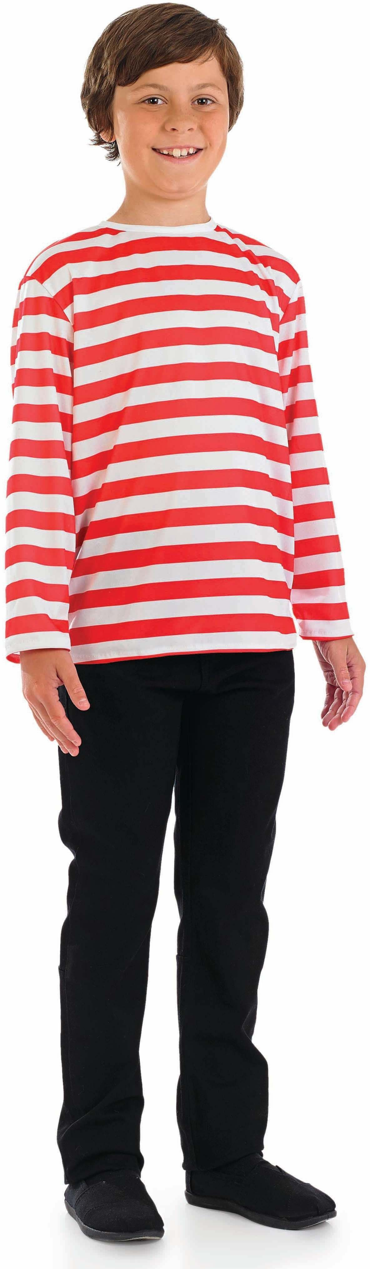 Boys Red & White Stripe Jumper - (Red,White)