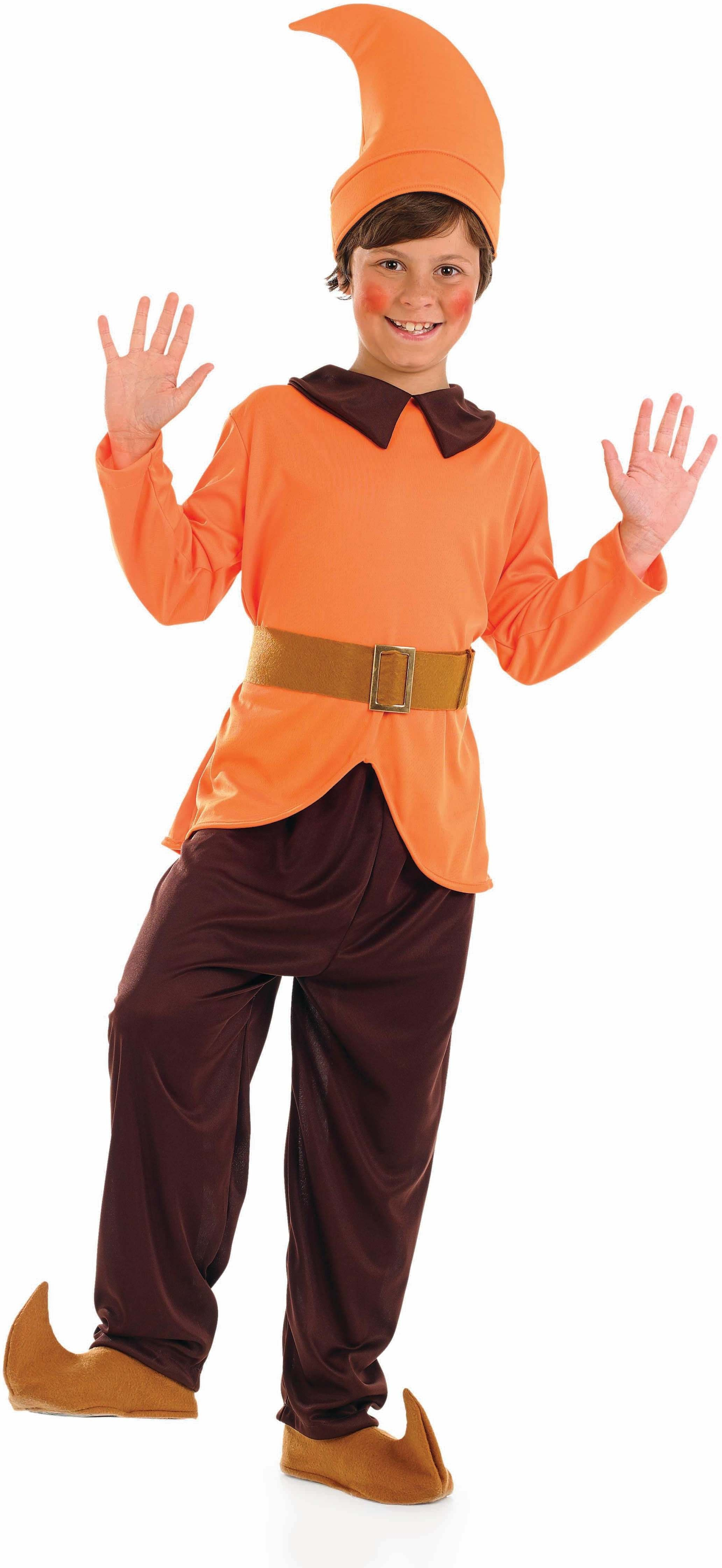 Boys Orange Dwarf Fairy Tales Outfit - (Orange)