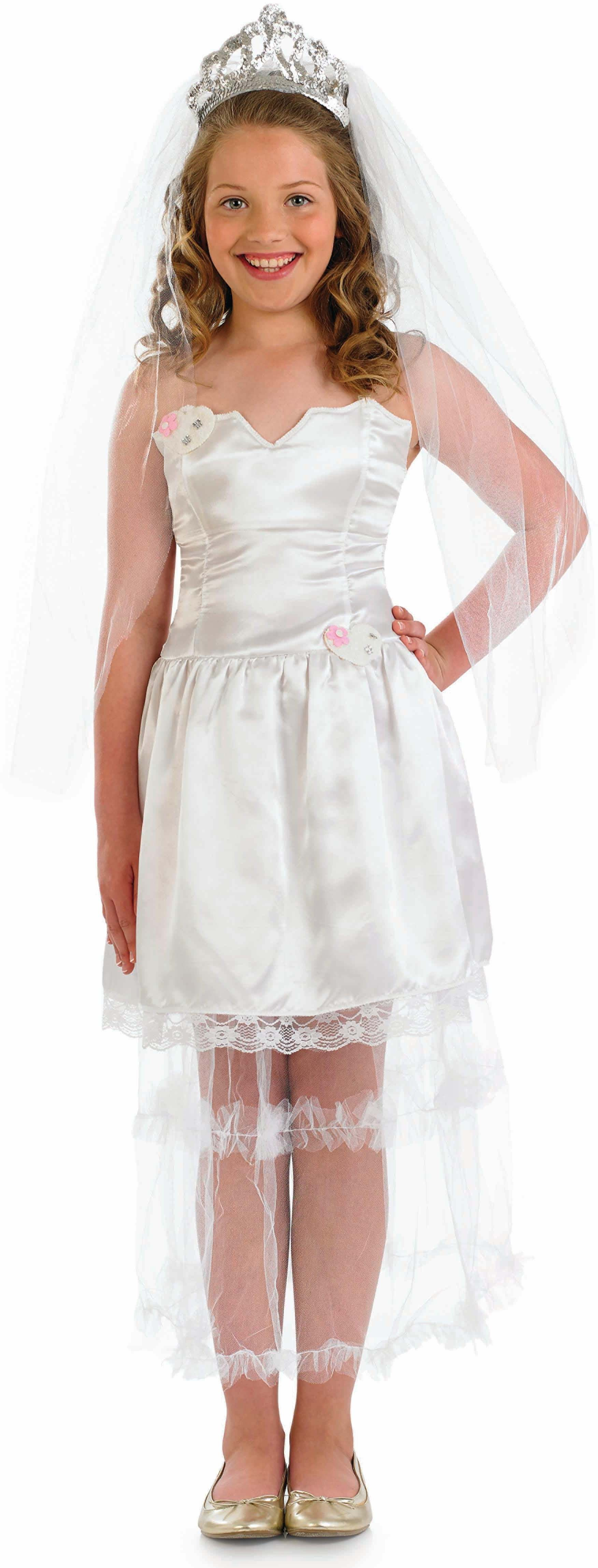 Girls Bride Bride Outfit - (White)
