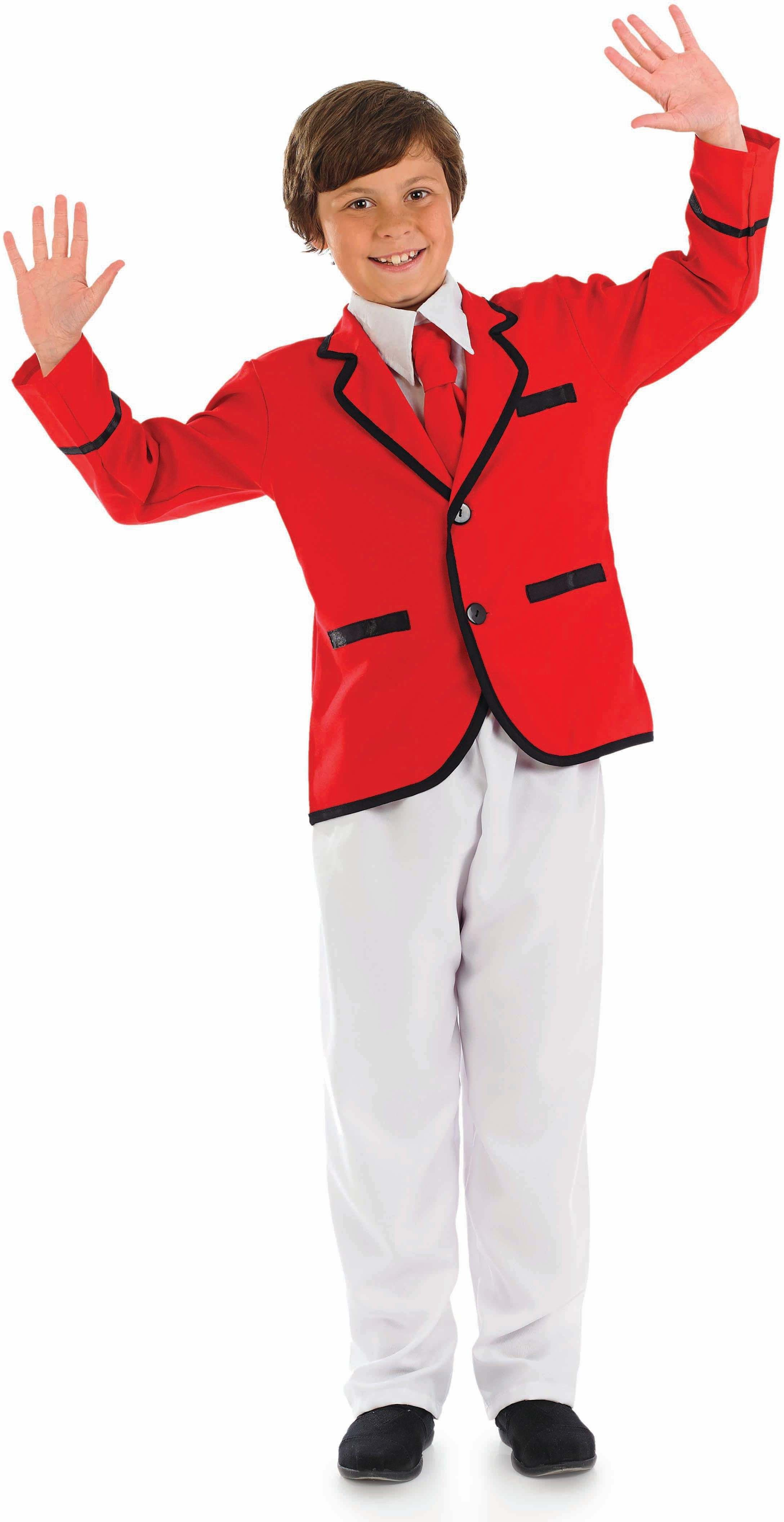 Boys Boys Holiday Camp Helper Holidaycamp Outfit - (Red,White)