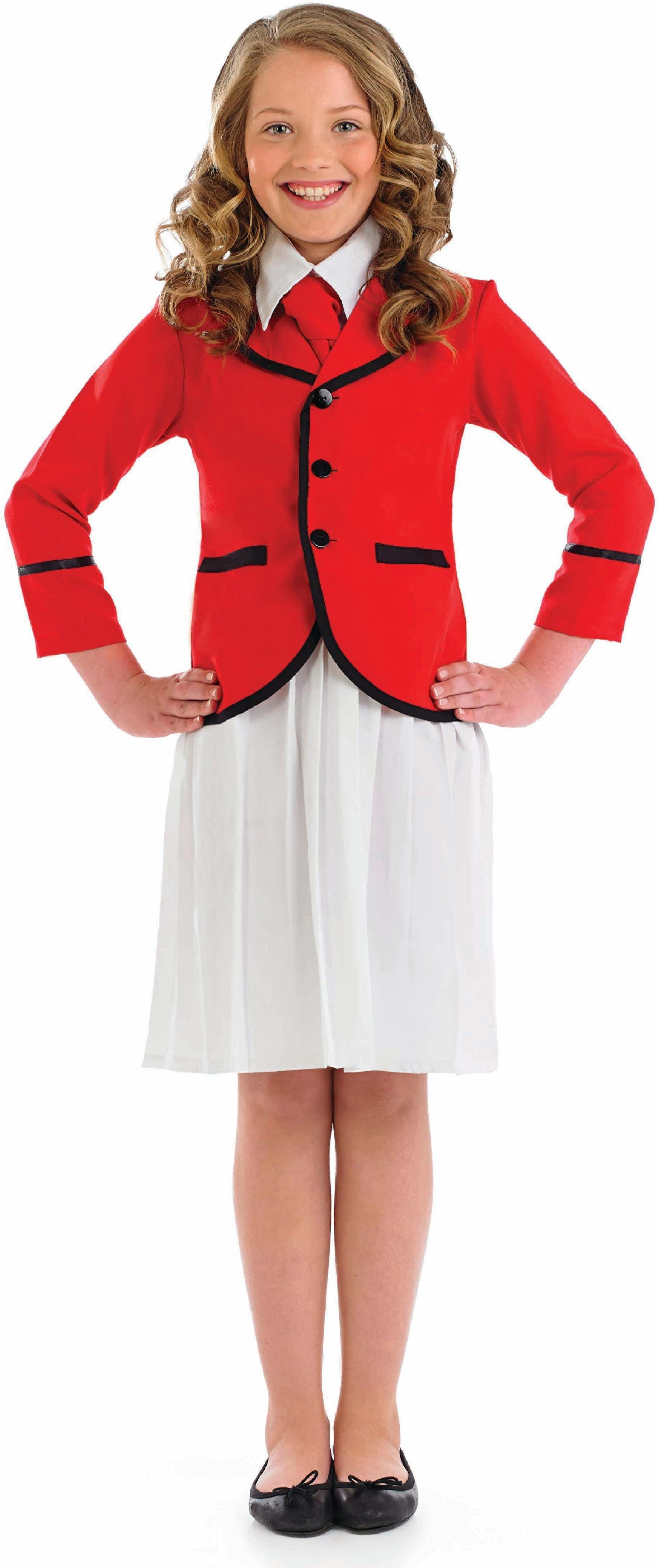 Girls Girls Holiday Camp Helper Holidaycamp Outfit - (Red,White)