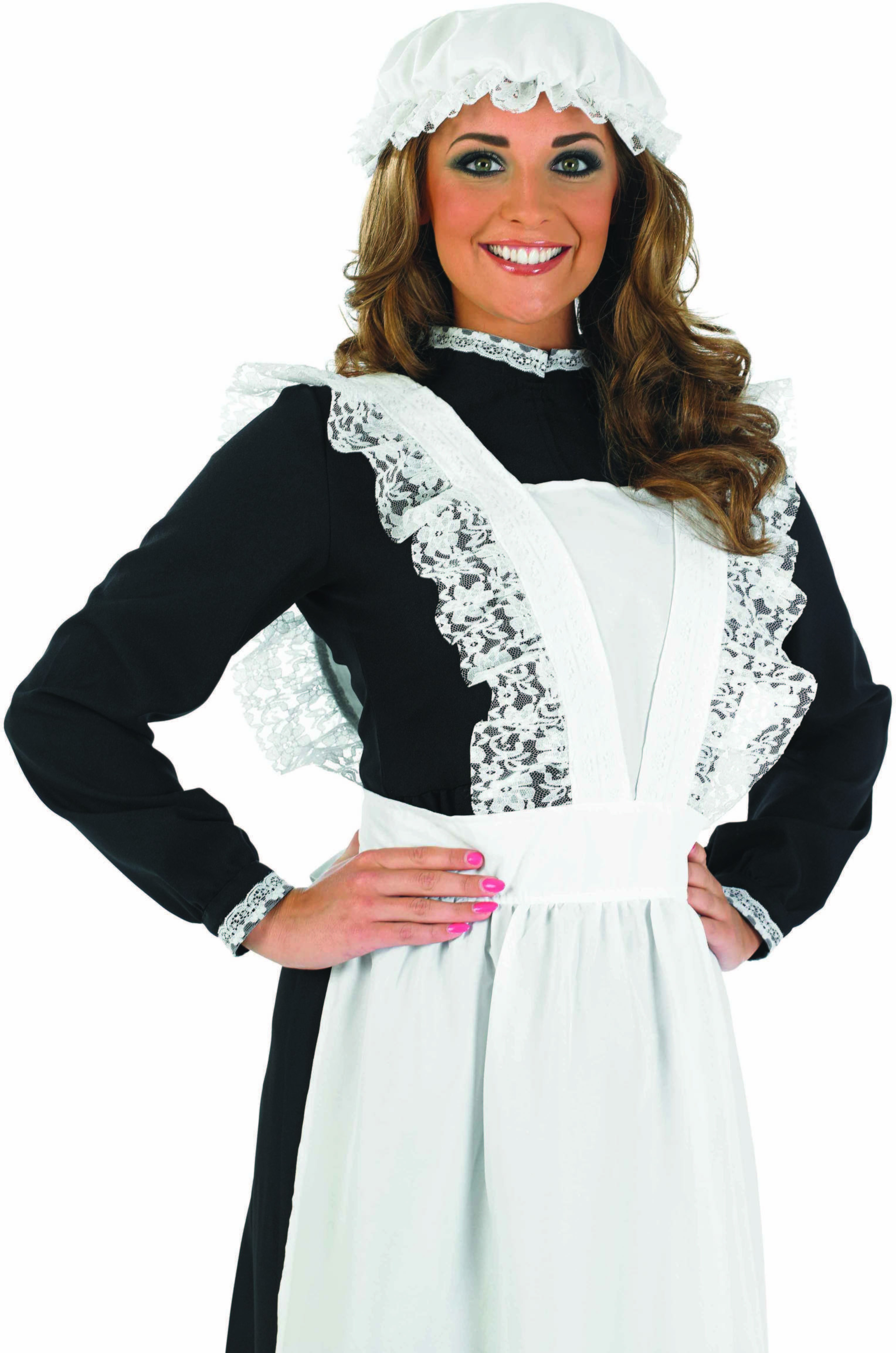 Ladies Victorian Maid Fancy Dress Costume